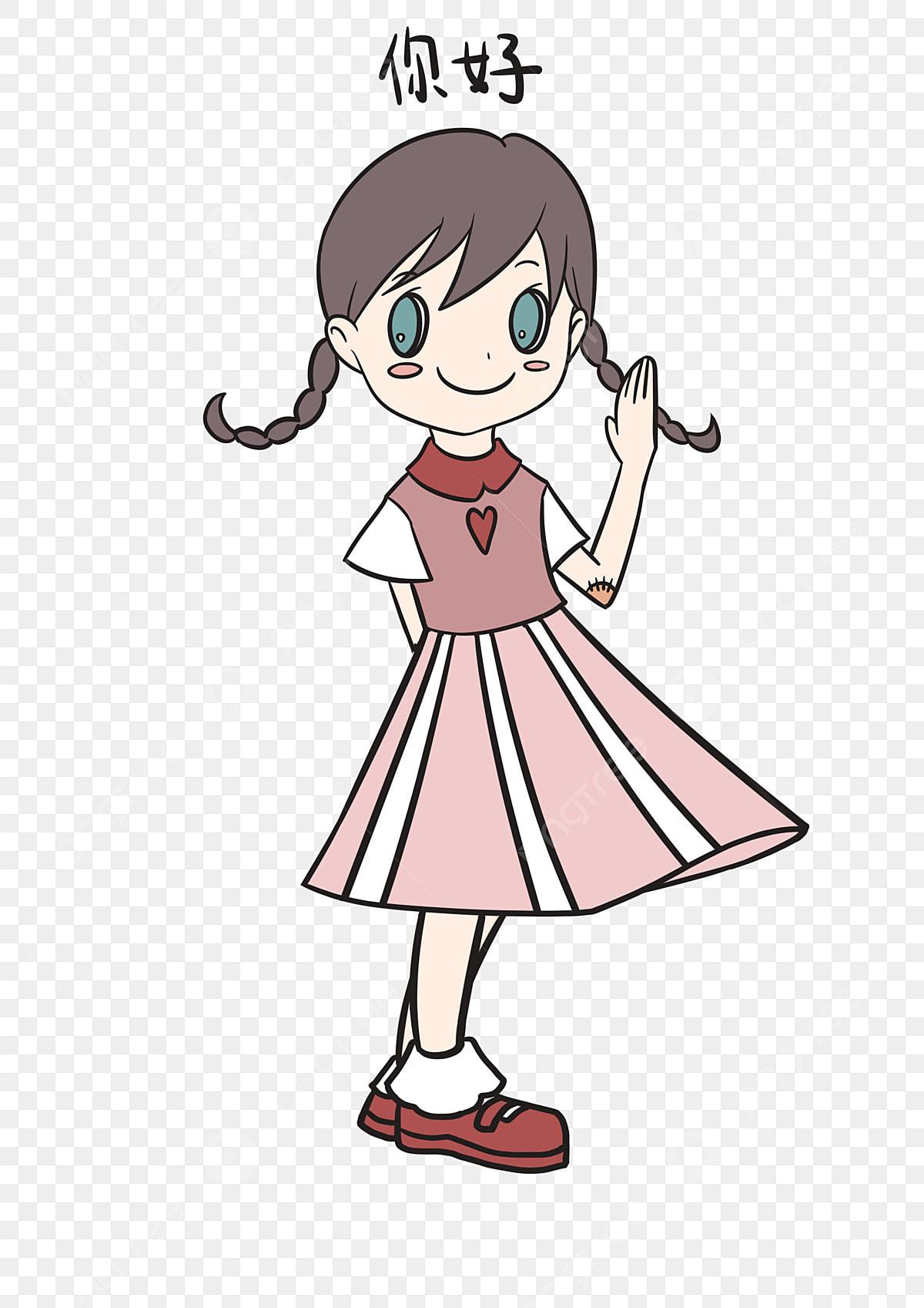Ekspresi Hello Pek Ekspresi Gadis Kecil Ekspresi Gadis Kecil