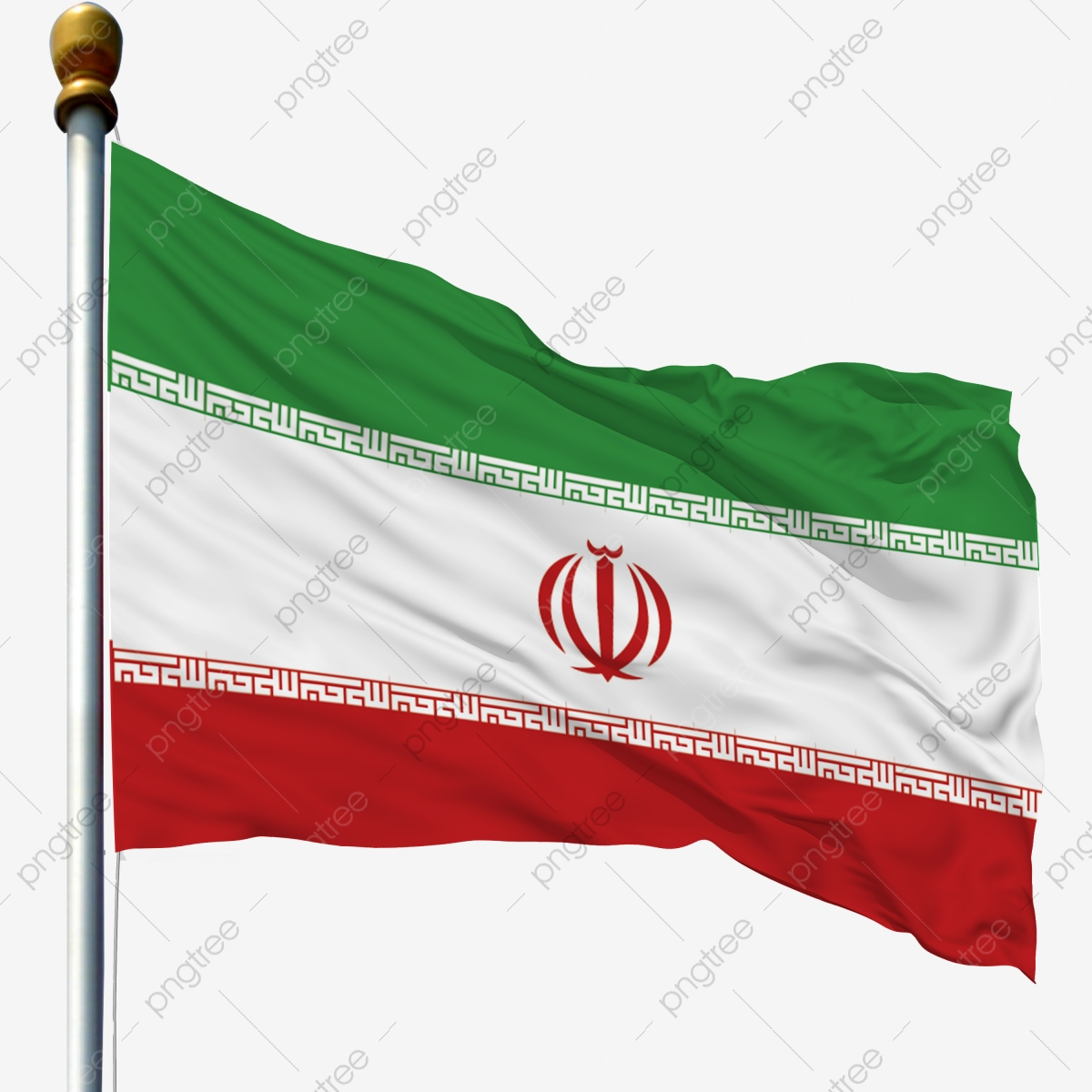 Iran National Flag Waving Flag Flagpole Flag Flagpole With Flag Flying Flag With Flagpole Iranian Flag Png Transparent Clipart Image And Psd File For Free Download