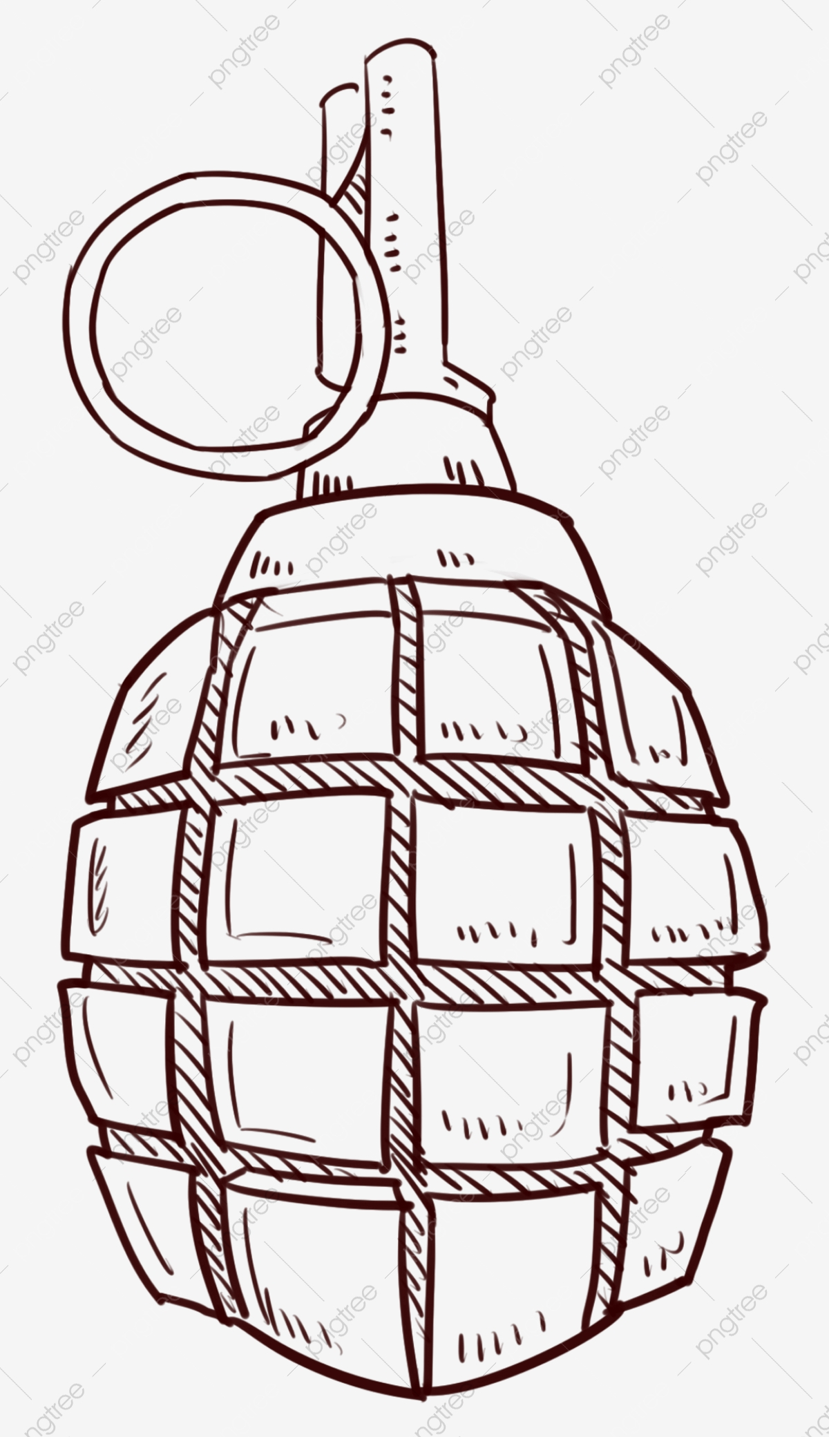 dessin au trait militaires illustration grenade grenade