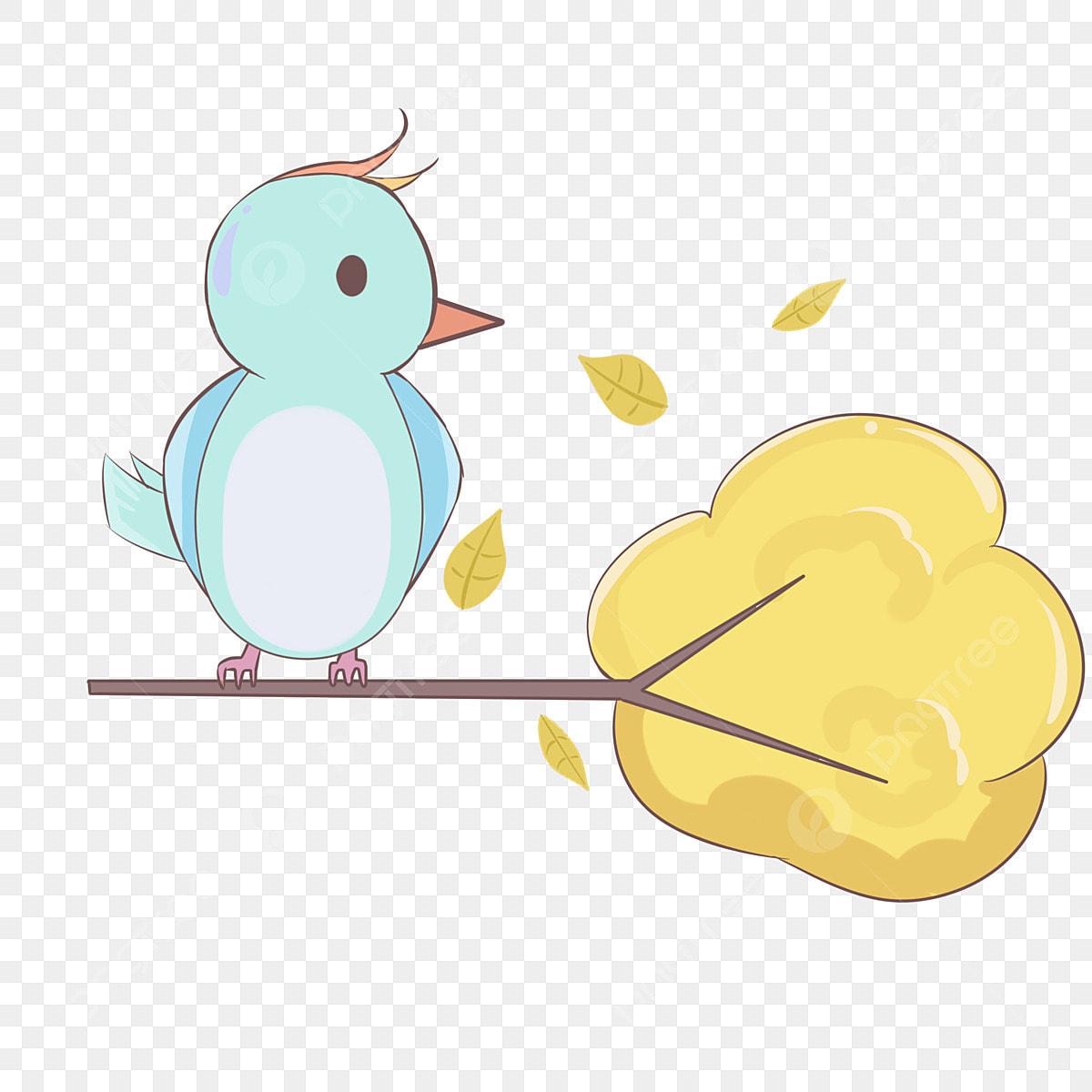 Petit Oiseau Sur La Branche Theme Automne Illustration De Serie