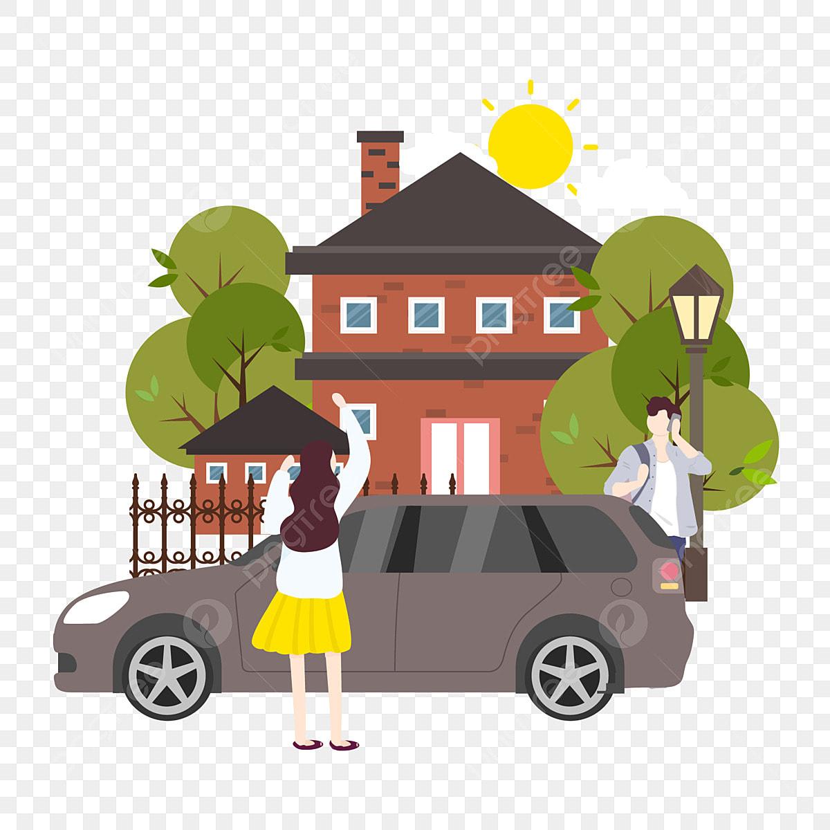 Gambar Lelaki Keluar Dari Vila Orang Orang Muda Memanggil Gadis Memanggil Memanggil Mobil Mobil Rumah Bangunan Png Dan Vektor Dengan Latar Belakang Transparan Untuk Unduh Gratis