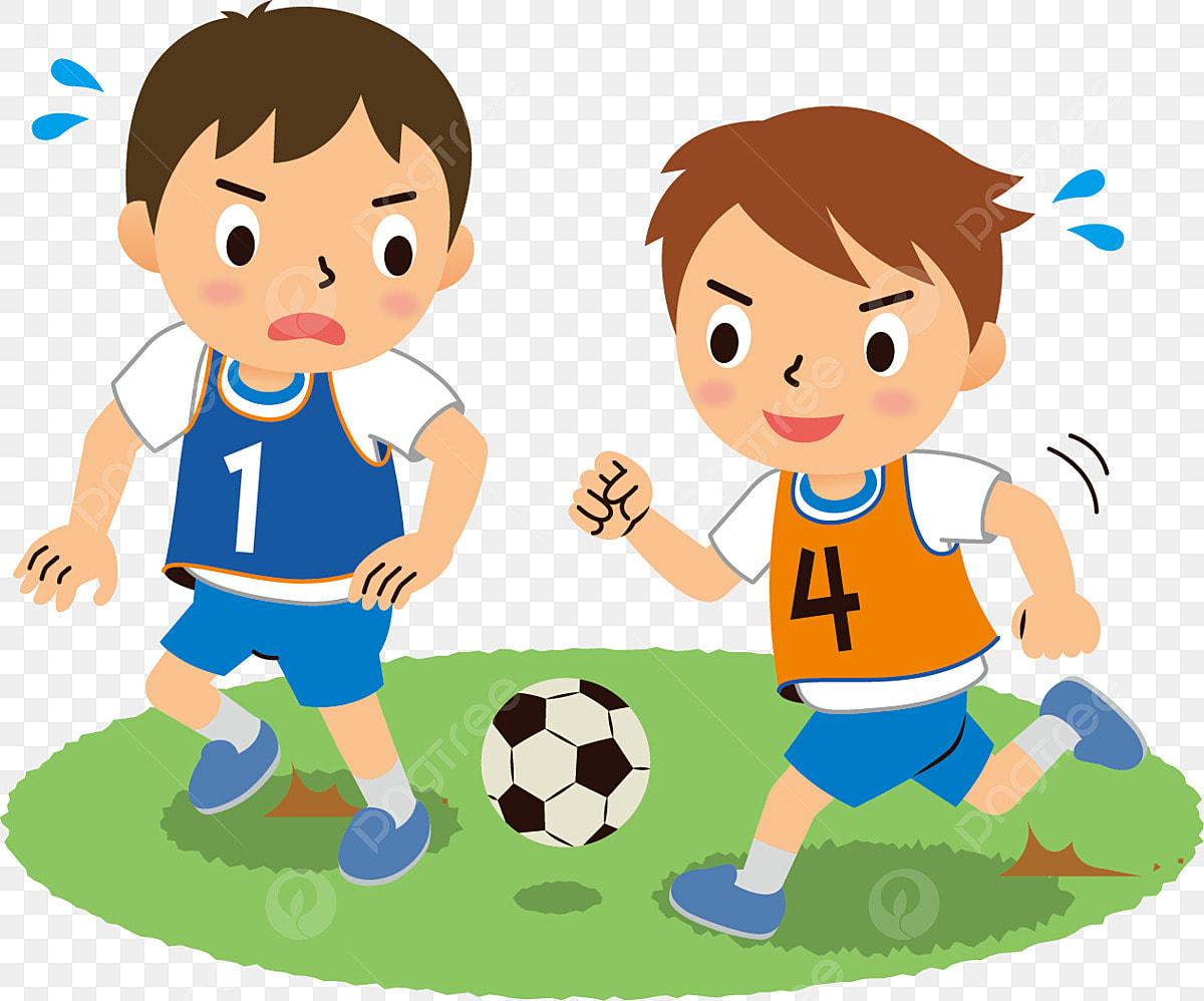 เคลื่อนไหวกีฬาแข่งขันกีฬาฟุตบอล, การแข่งขันฟุตบอล, สไตล์การ์ตูน,  เด็กชายตัวเล็ก ๆภาพ PNG และ เวกเตอร์ สำหรับการดาวน์โหลดฟรี