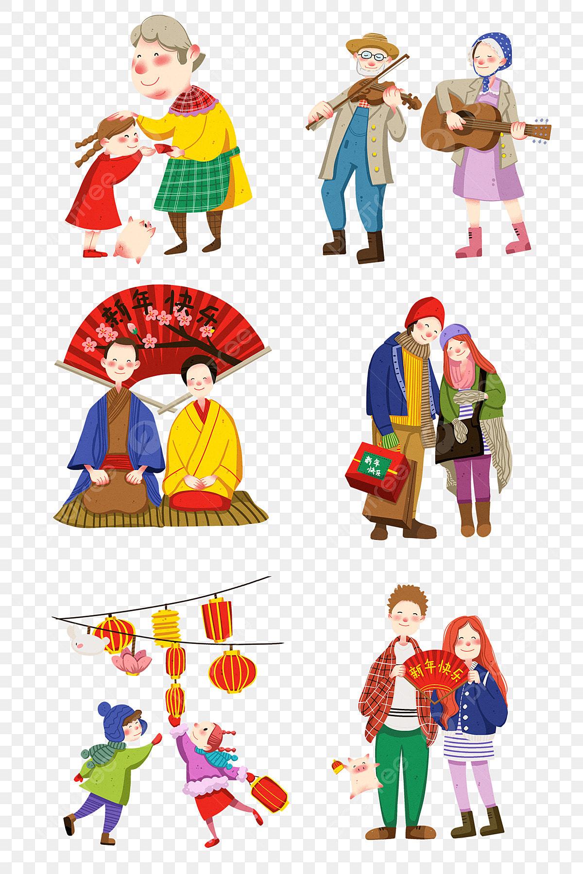 新年の赤い封筒 幸せな子 漫画イラスト 手描きの新年イラスト 幸せな子 明けましておめでとうございます 手描きの新年コレクションの図画像とpsd素材ファイルの無料ダウンロード Pngtree
