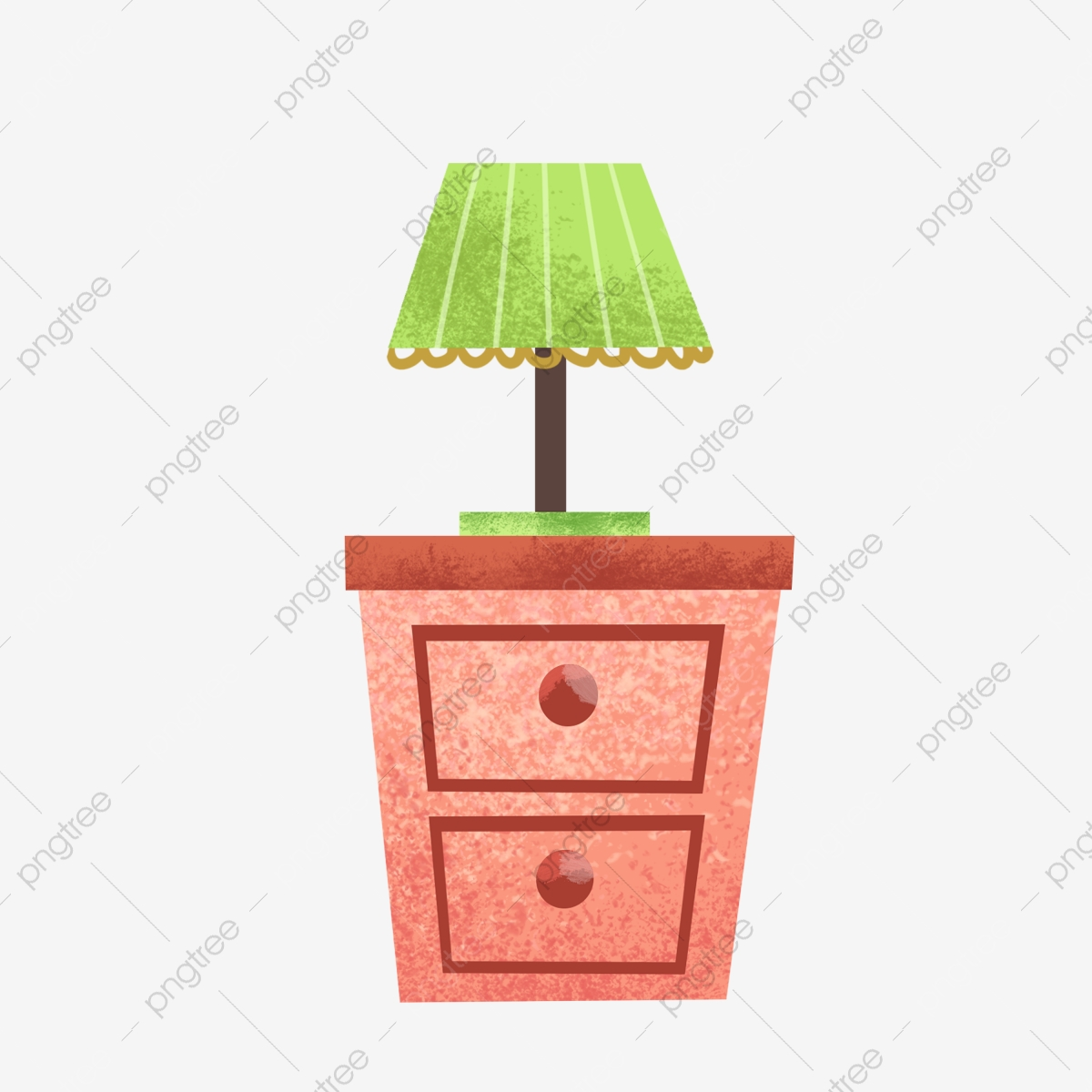 Pink Bedside Table Green Table Lamp Exquisite Furniture