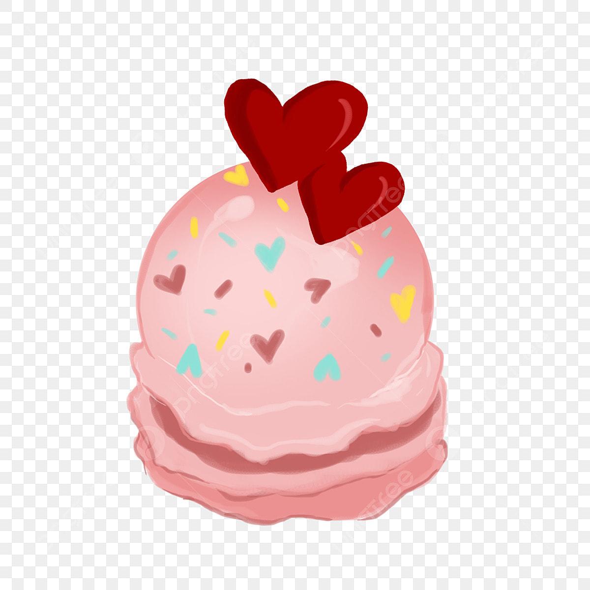 Admirable Pink Love Cake Beautiful Love Cake Hand Drawn Love Cake Cartoon Funny Birthday Cards Online Elaedamsfinfo