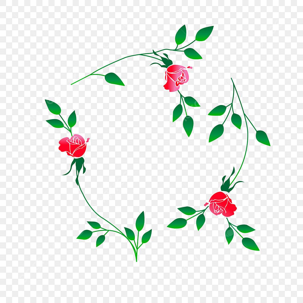 Plant Flower Rose Flower Frame Lace Shading Border Flower Border