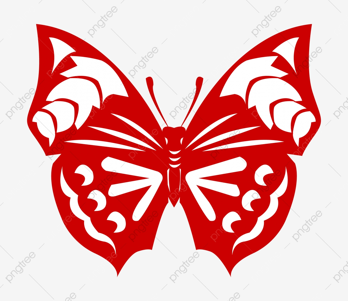 Red Butterfly Paper Cut Beautiful Butterfly Paper Cut Hand