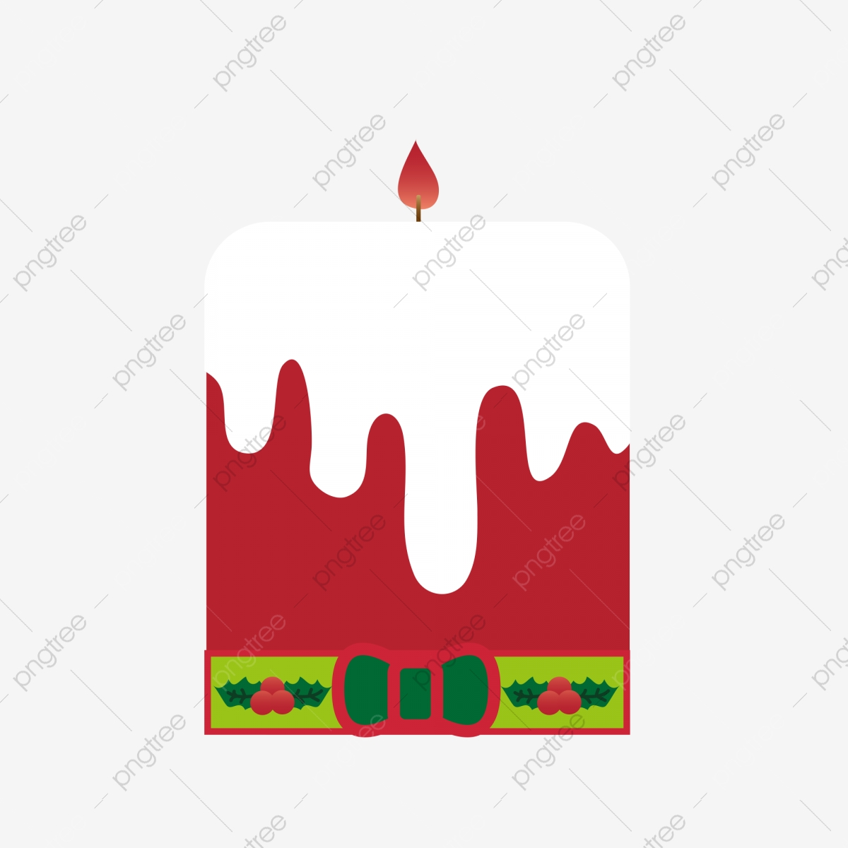 Red Cake Candle Christmas Birthday Cake Art Cake Cream