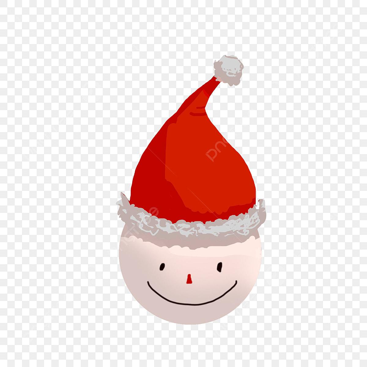 Christmas Hat Cartoon Transparent.Red Christmas Hat Cartoon Expression Cartoon Snowman Head
