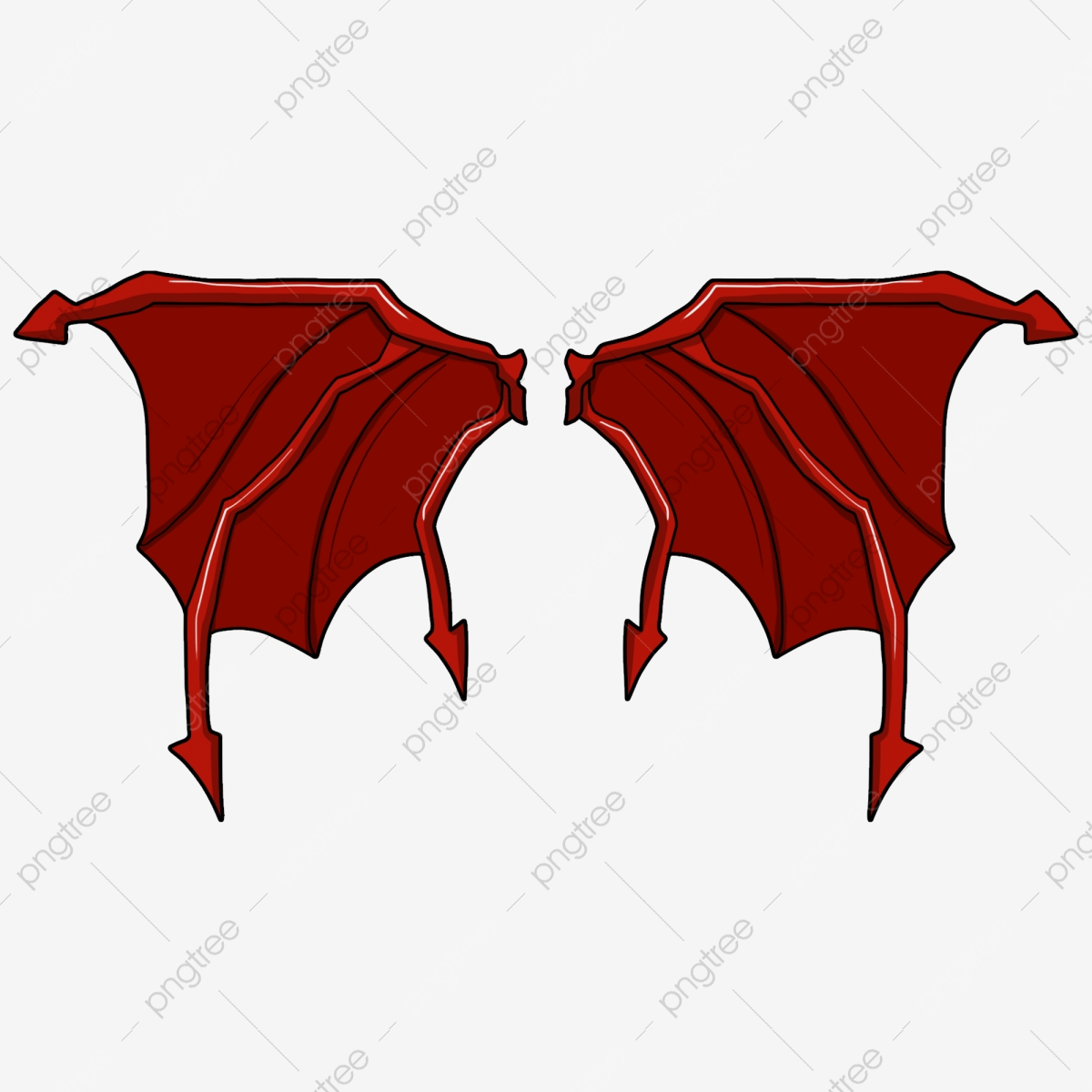 Red Demon Wing Evil Wings Good Looking Illustration Beautiful