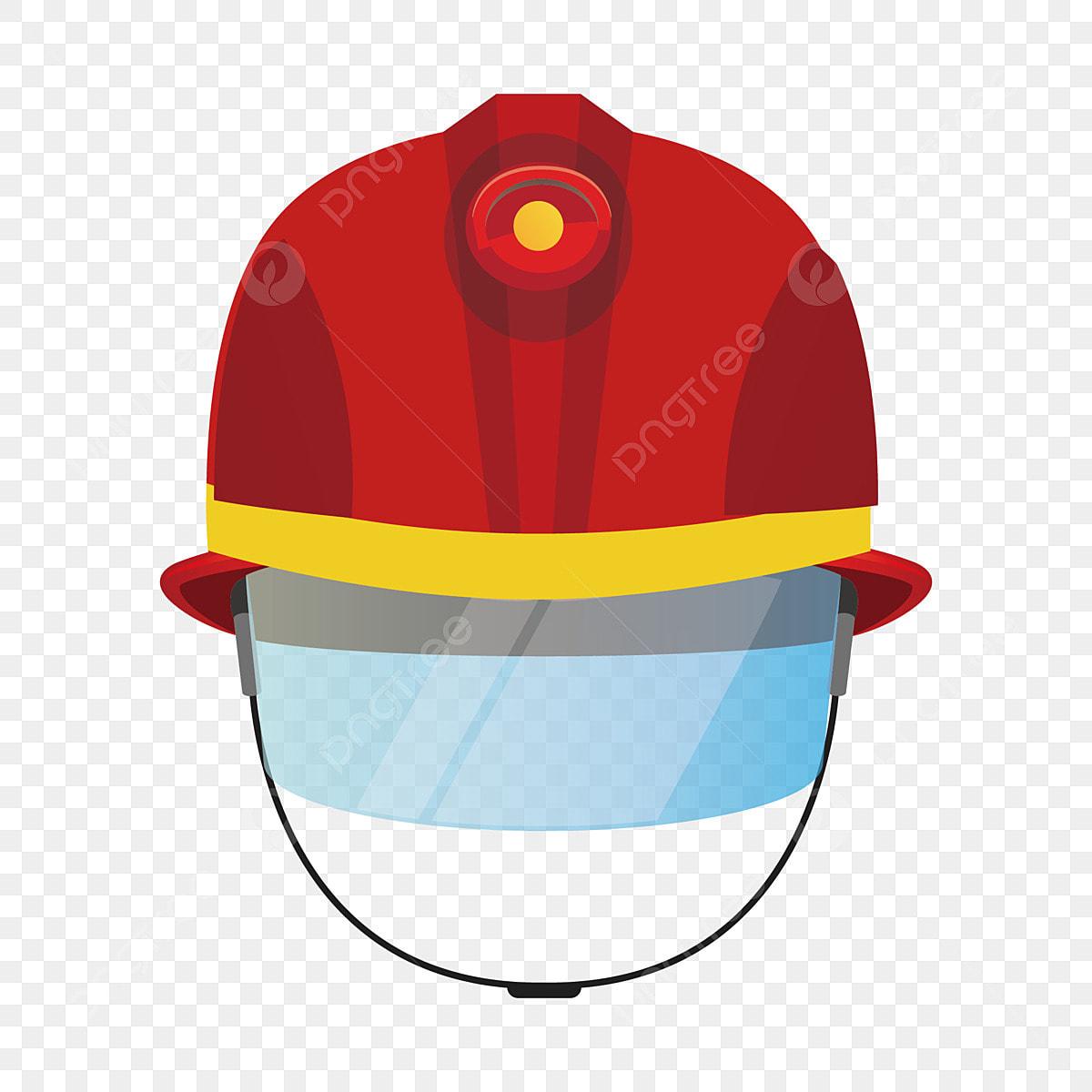 Red Hard Hat Sturdy Helmet Beautiful Hard Hat Fire Helmet