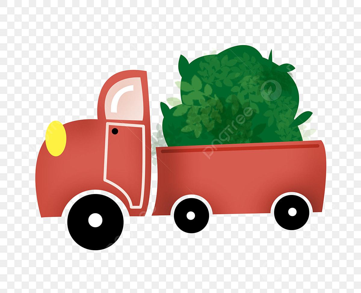 Camion Rouge Camionnette De Dessin Animé Avant Véhicule De