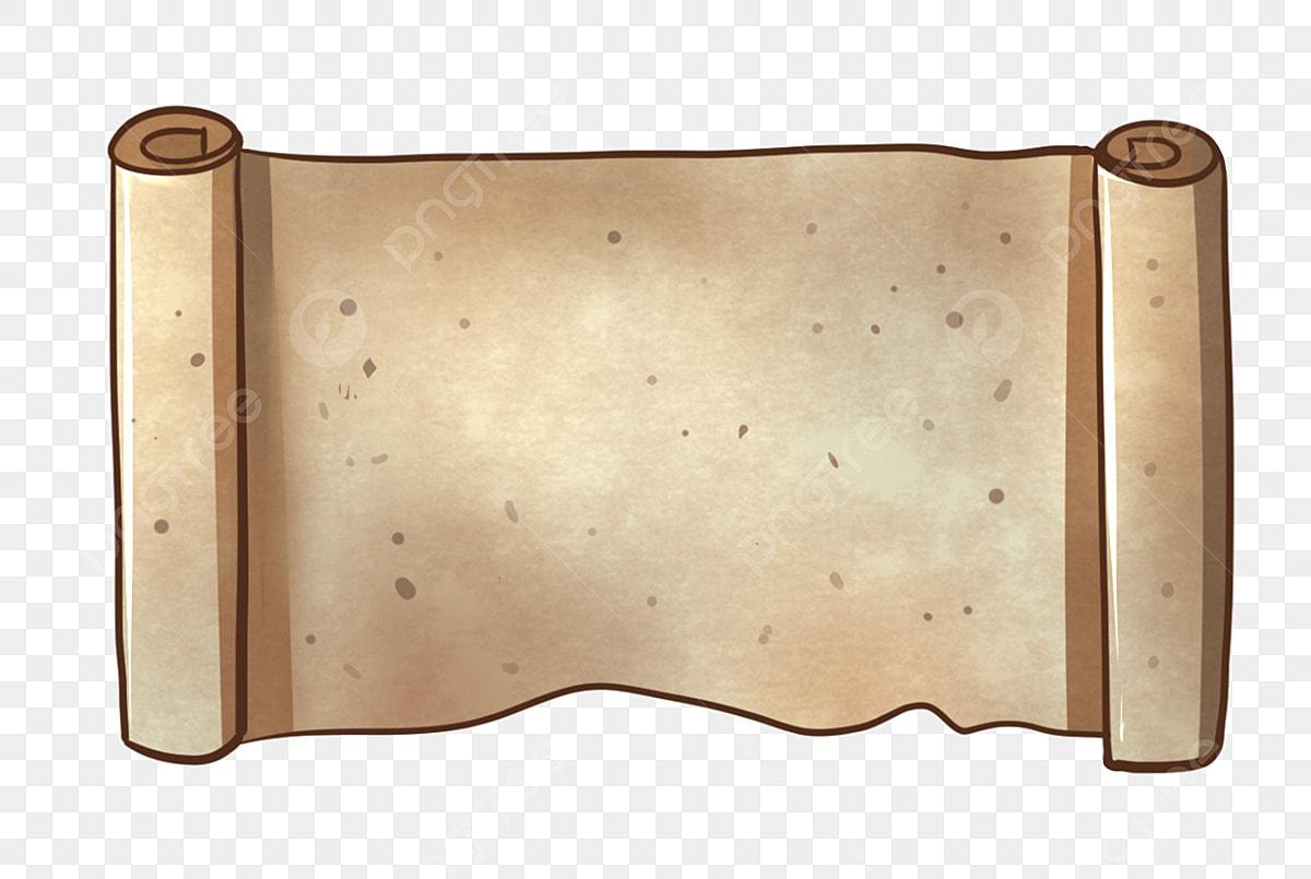 foto de Desplazamiento Simple Pergamino Dibujado A Mano Ilustración De ...