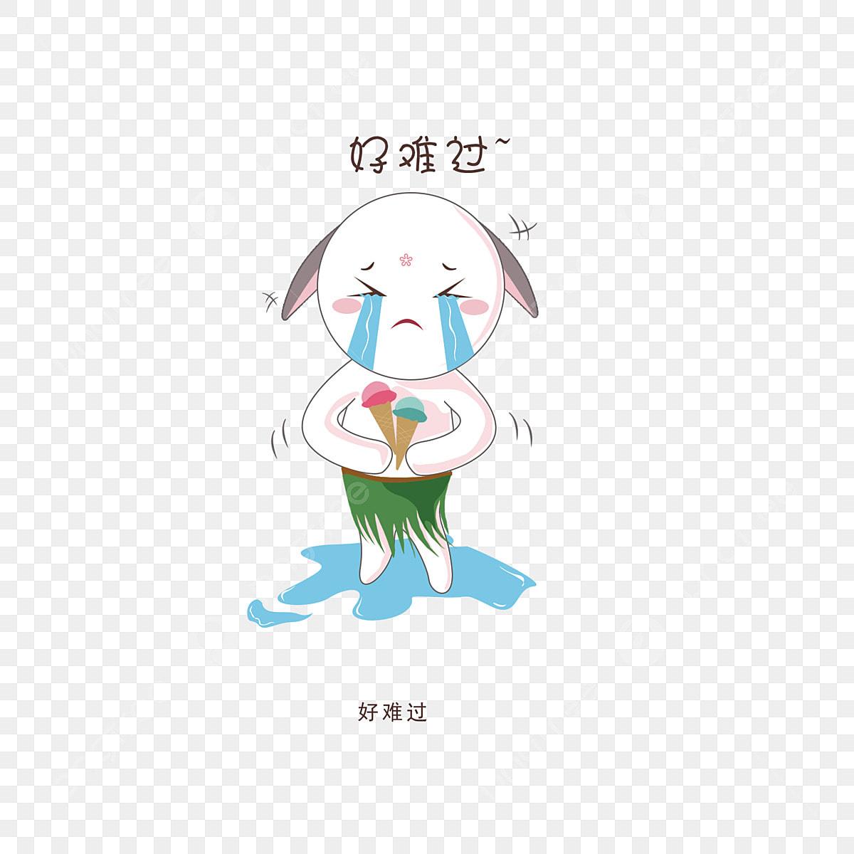 حزين جدا من ناحية رسم الأرنب التعبيرات الكرتون لطيف صور انمي لطيف