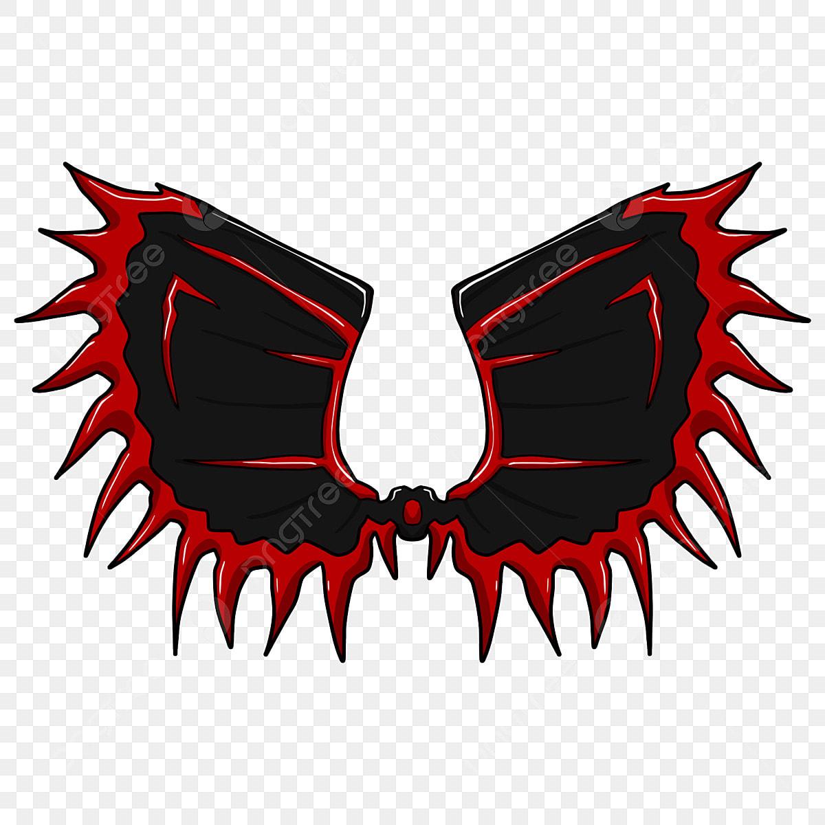 Ostroga Skrzydła Czarne Skrzydła Czerwone Obramowanie