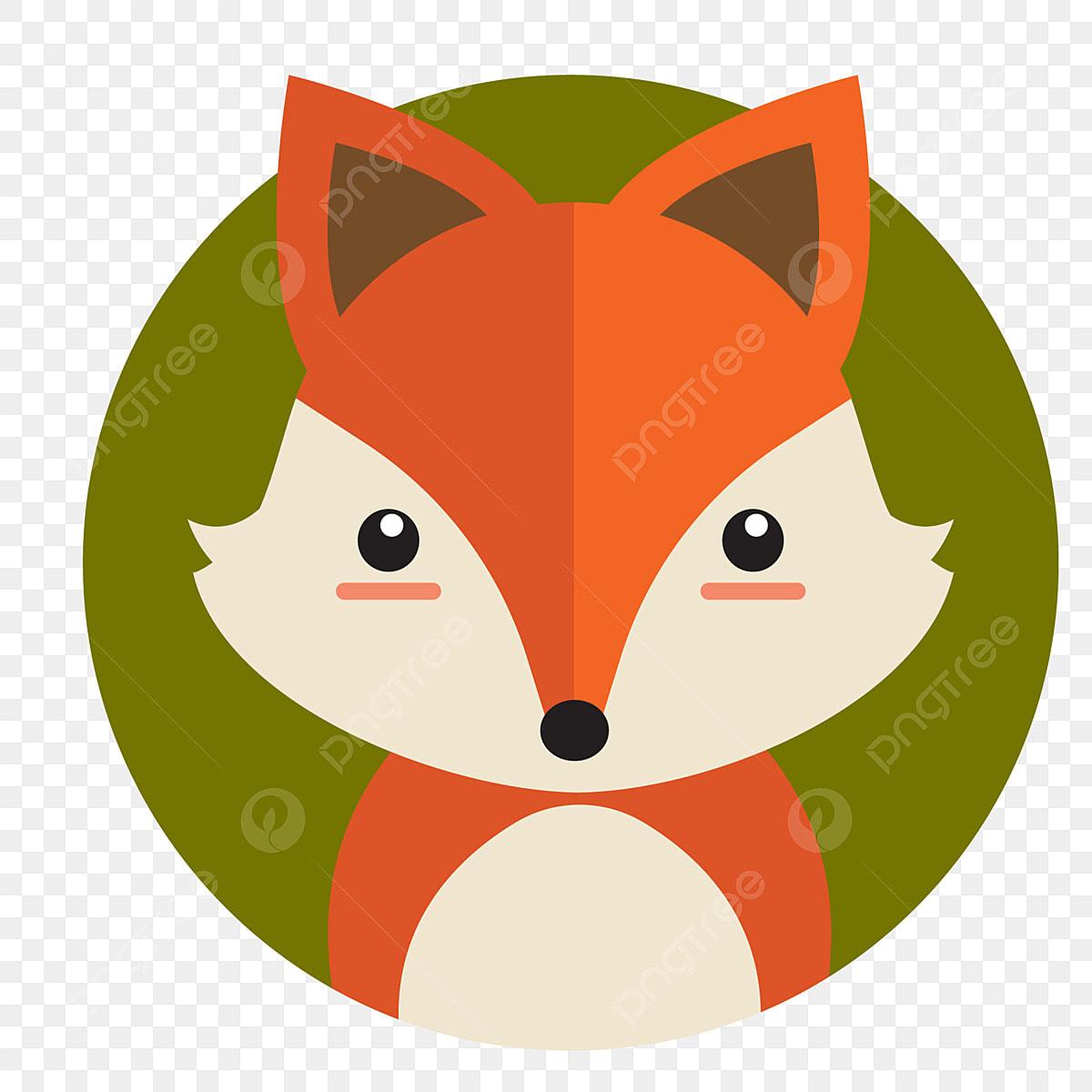Design Da Etiqueta Desenho De Animais Raposa Caricatura Bonito