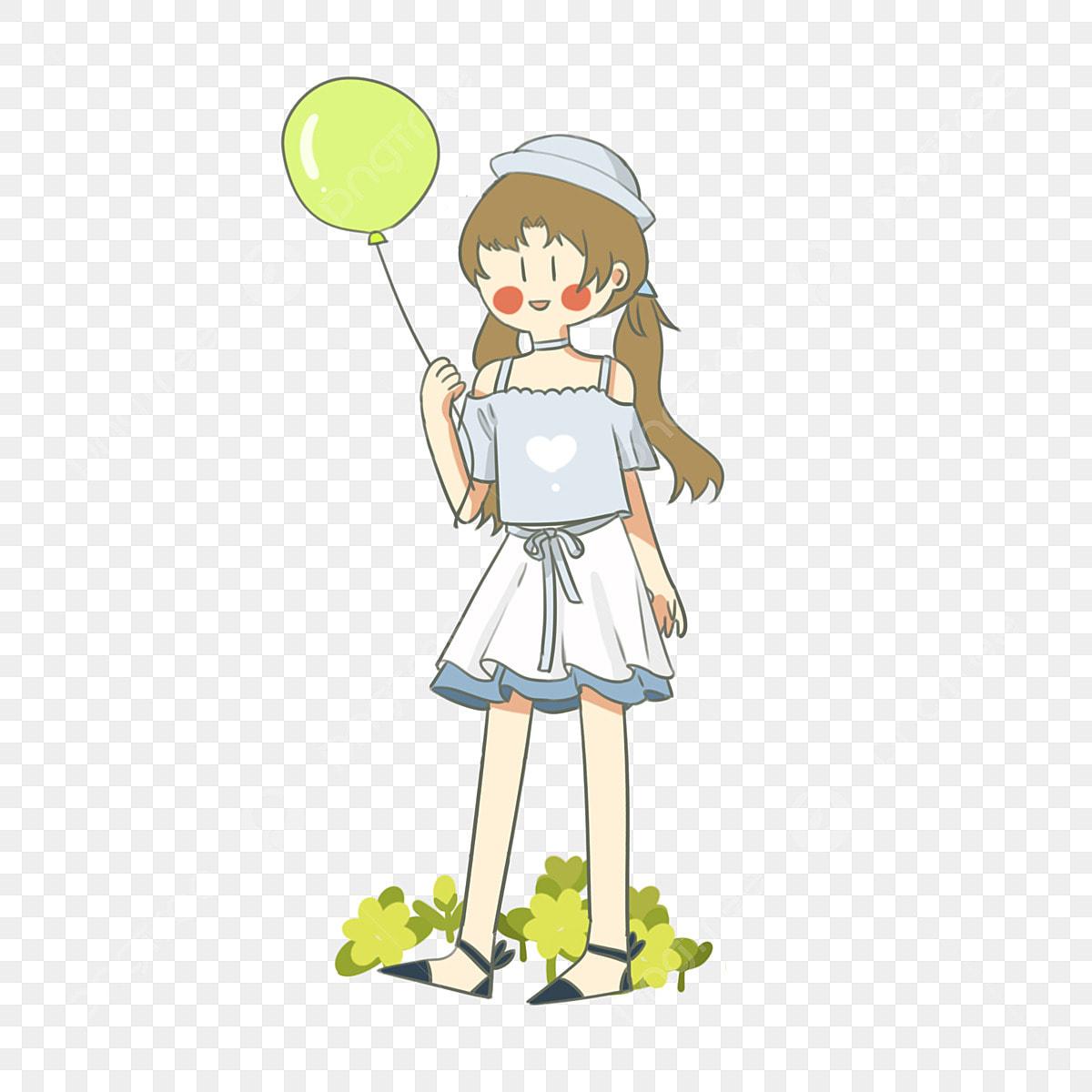 ملابس الصيف الصيف فتاة الكرتون توضيح توضيح متزوجة Png وملف Psd للتحميل مجانا