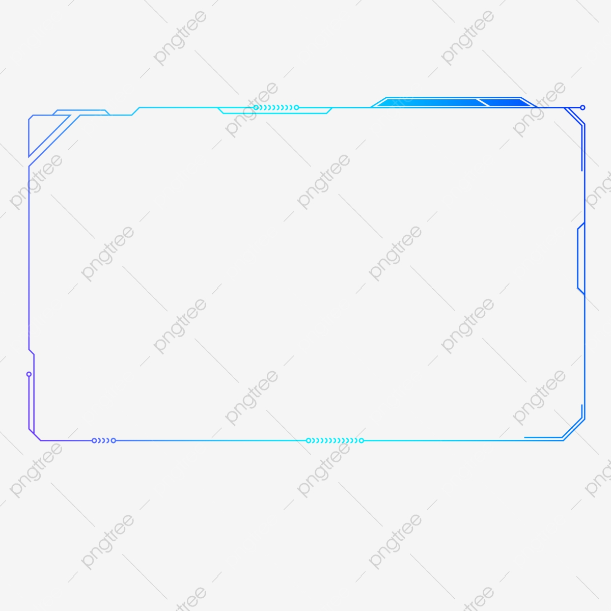 Technology Frame Icon Ui, Rectangle, Line, Modern Technology PNG