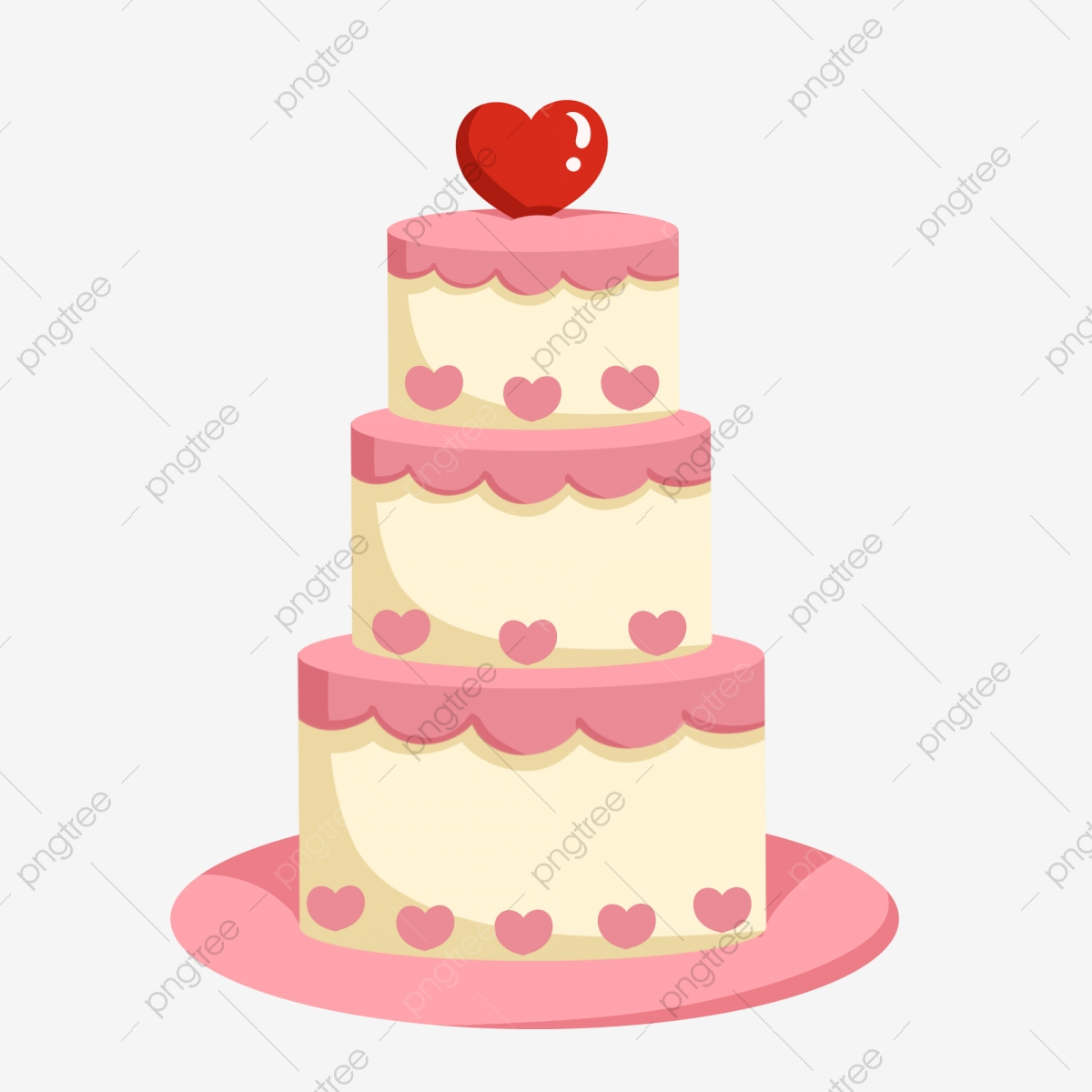 Awesome Valentines Day Small Illustration Pink Love Cake Beautiful Love Funny Birthday Cards Online Inifofree Goldxyz