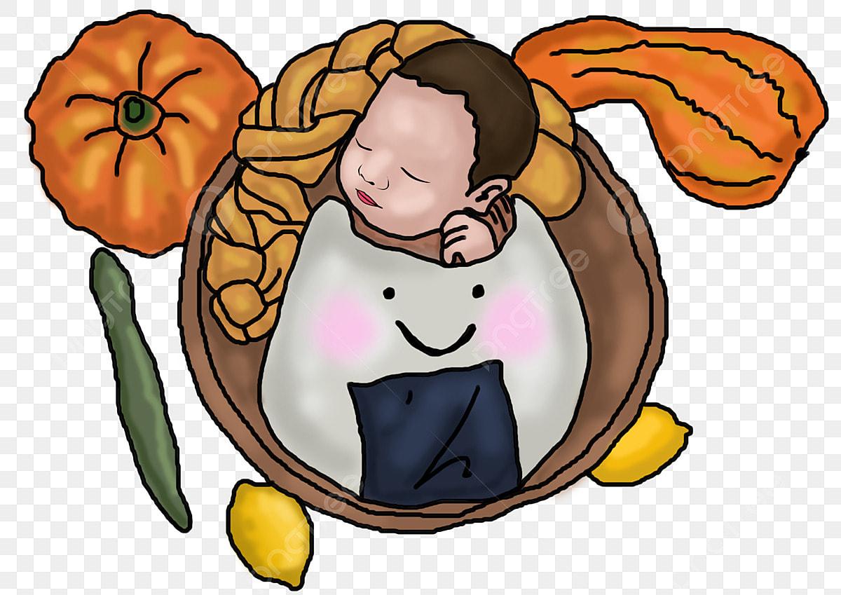 Gambar Memakai Anak Yang Hangat Bakul Sayuran Nasi Bola Bayi Tidur Musim Sejuk Timun Hangat Anak Png Dan Psd Untuk Muat Turun Percuma