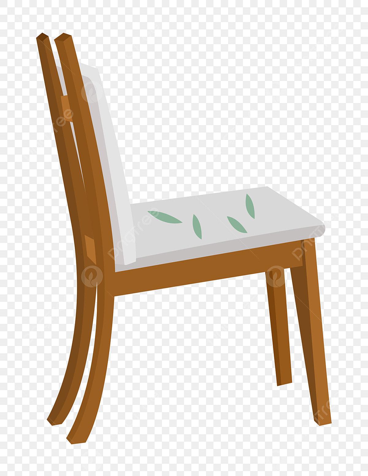 Blanc De Dessin Verte Bois Chaise Meubles Coussin Illustration En 3AL45Rj