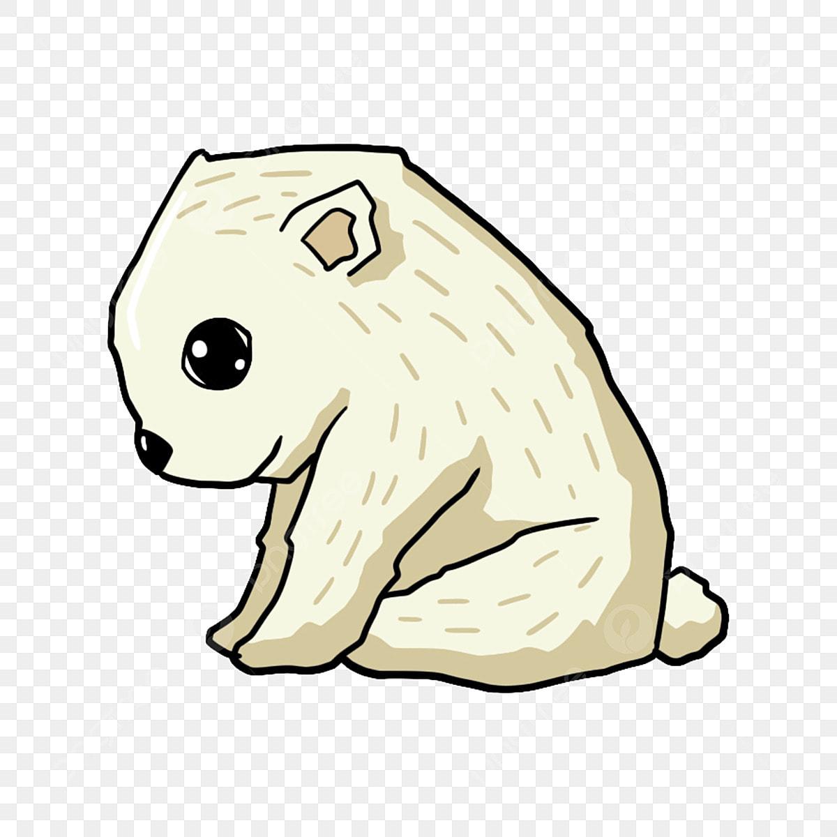 Puppy Putih Anak Anjing Yang Ditarik Tangan Mata Hitam Anjing