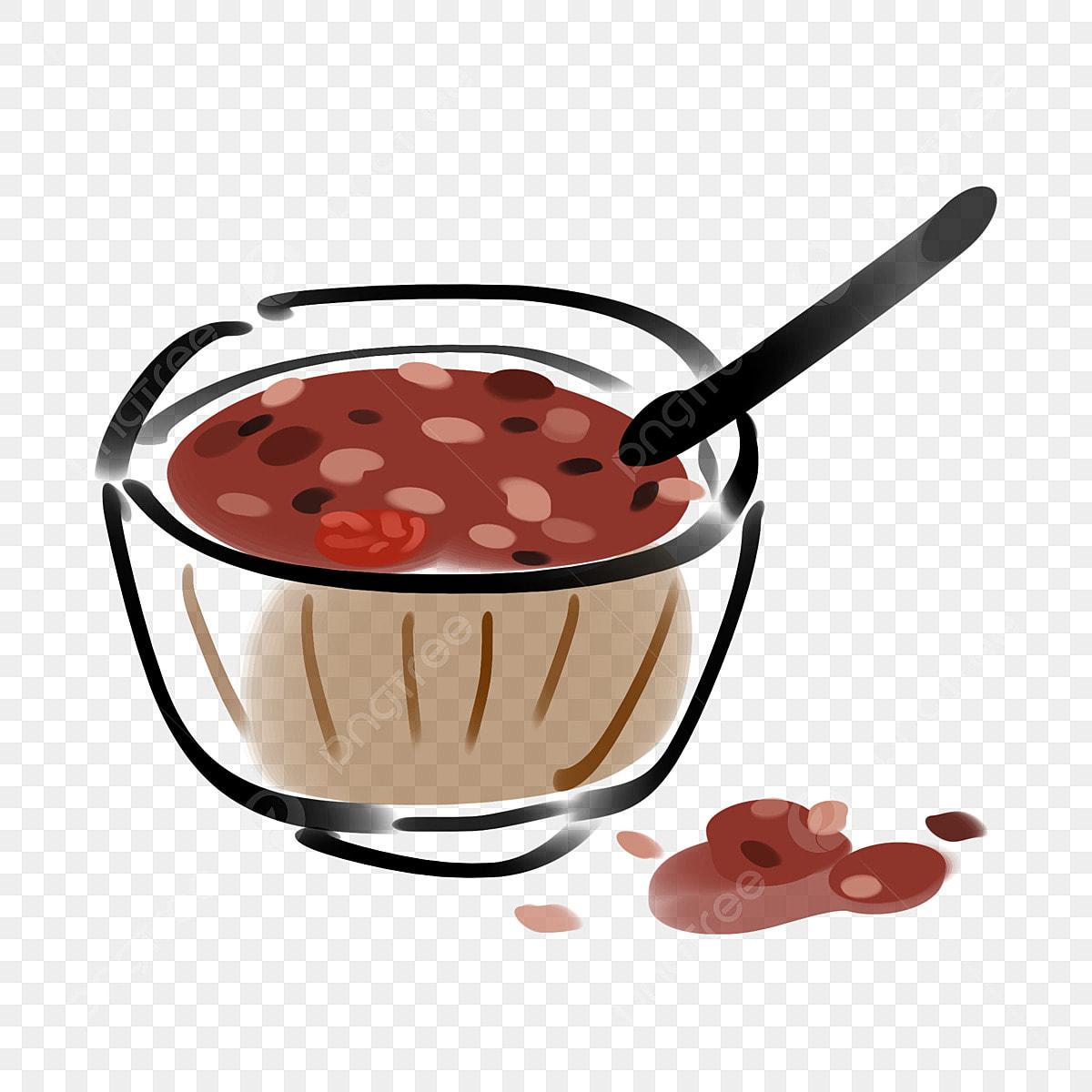 Ilustrasi Makanan Solstis Musim Sejuk Bubur Kacang Merah Yang Enak