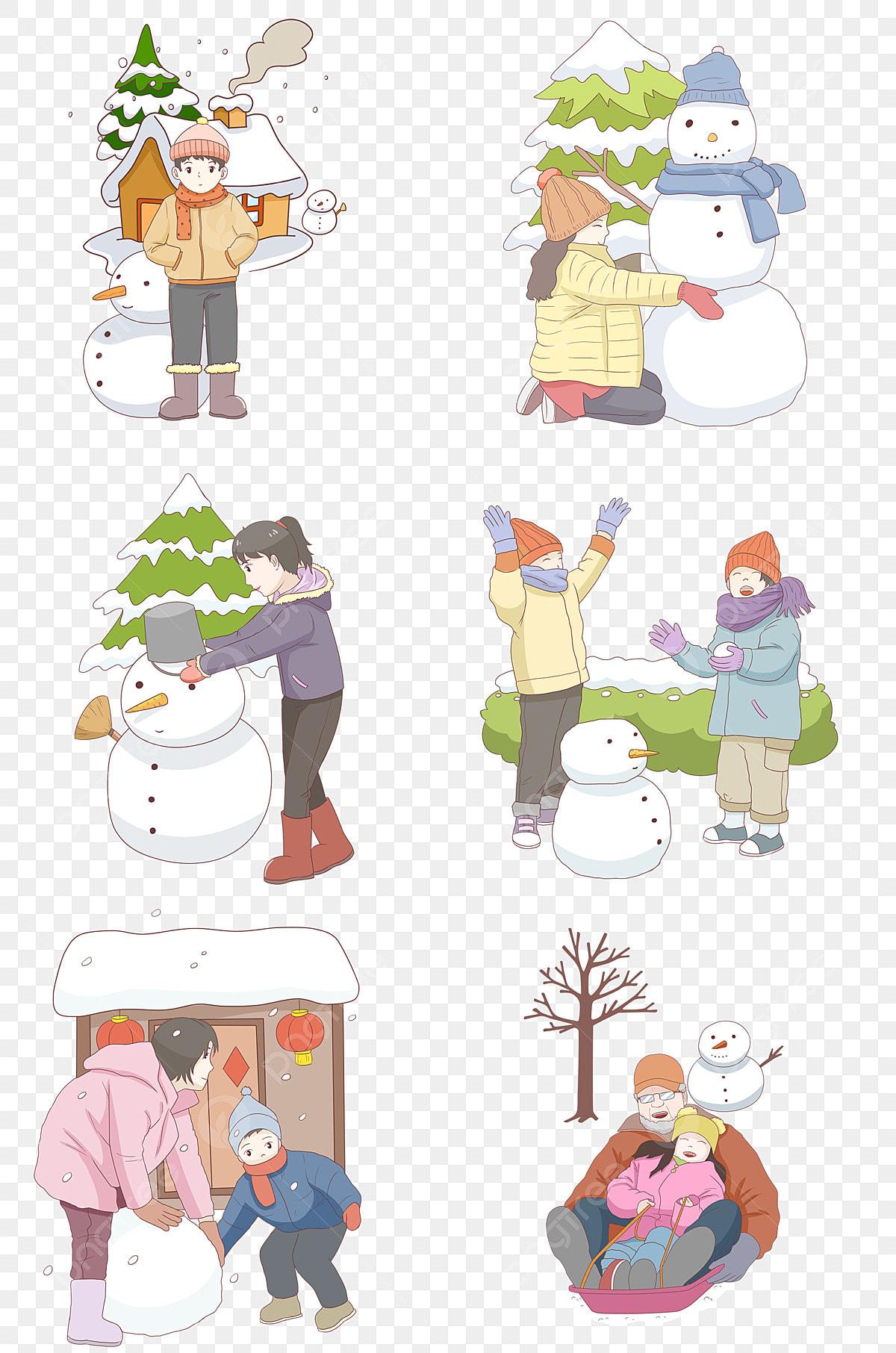 Musim Sejuk Musim Sejuk Musim Sejuk Hari Salji Watak Kartun