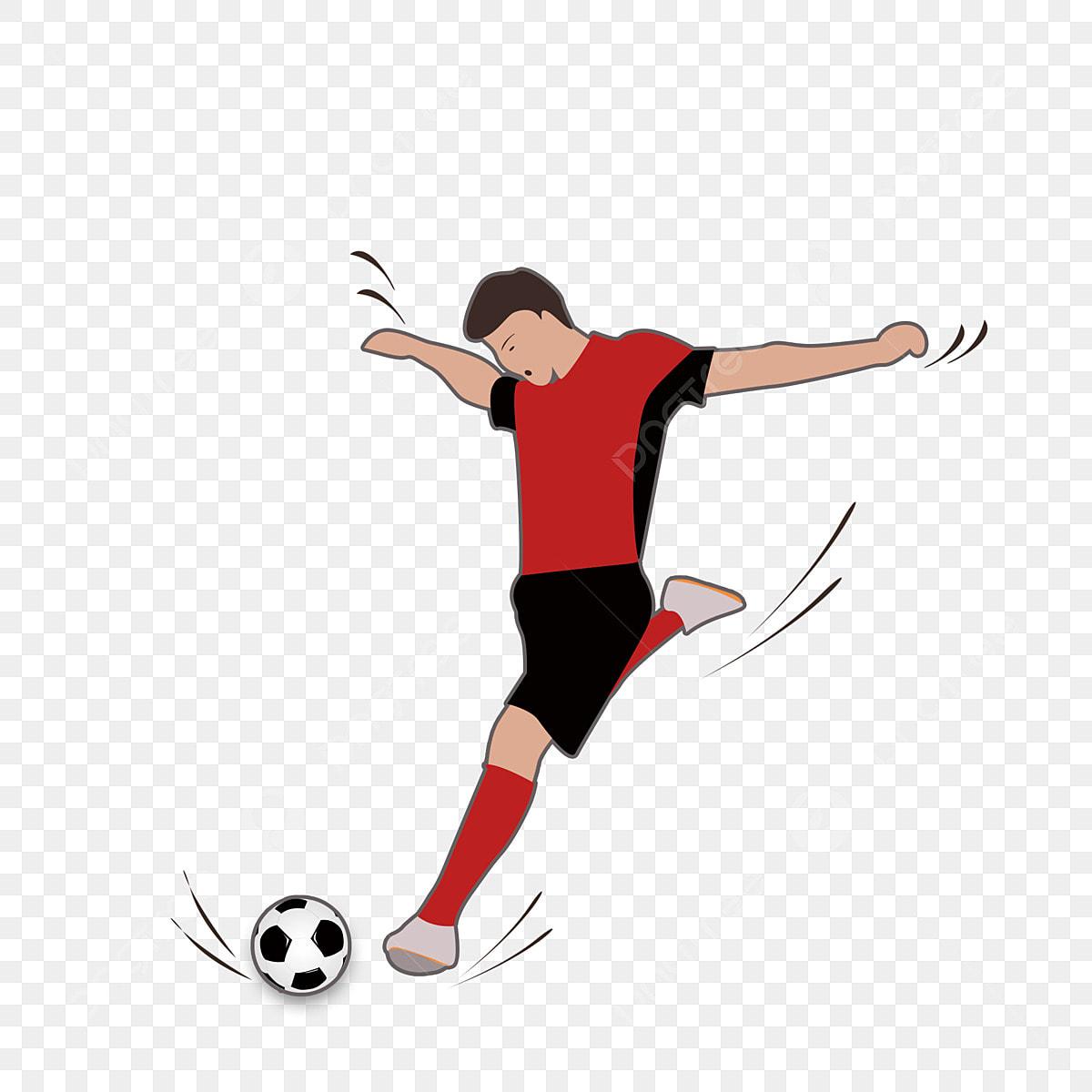 Kartun Pemain Bola Sepak Dunia Kesederhanaan Kartun Imej