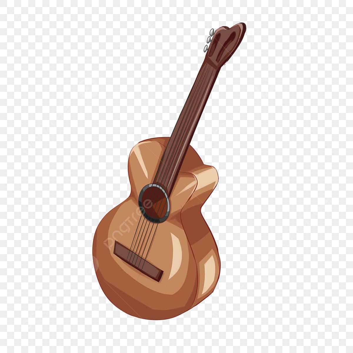 Guitarra Amarela Violao Bonito Guitarra Desenhados A Mao Guitarra