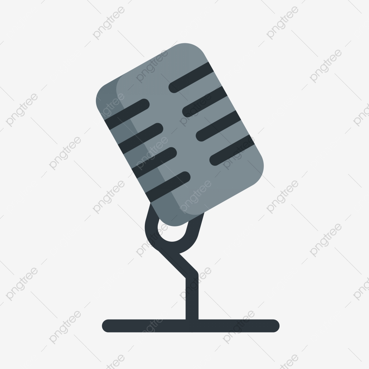 Micrófono Base Micrófono De Dibujos Animados Ilustración De