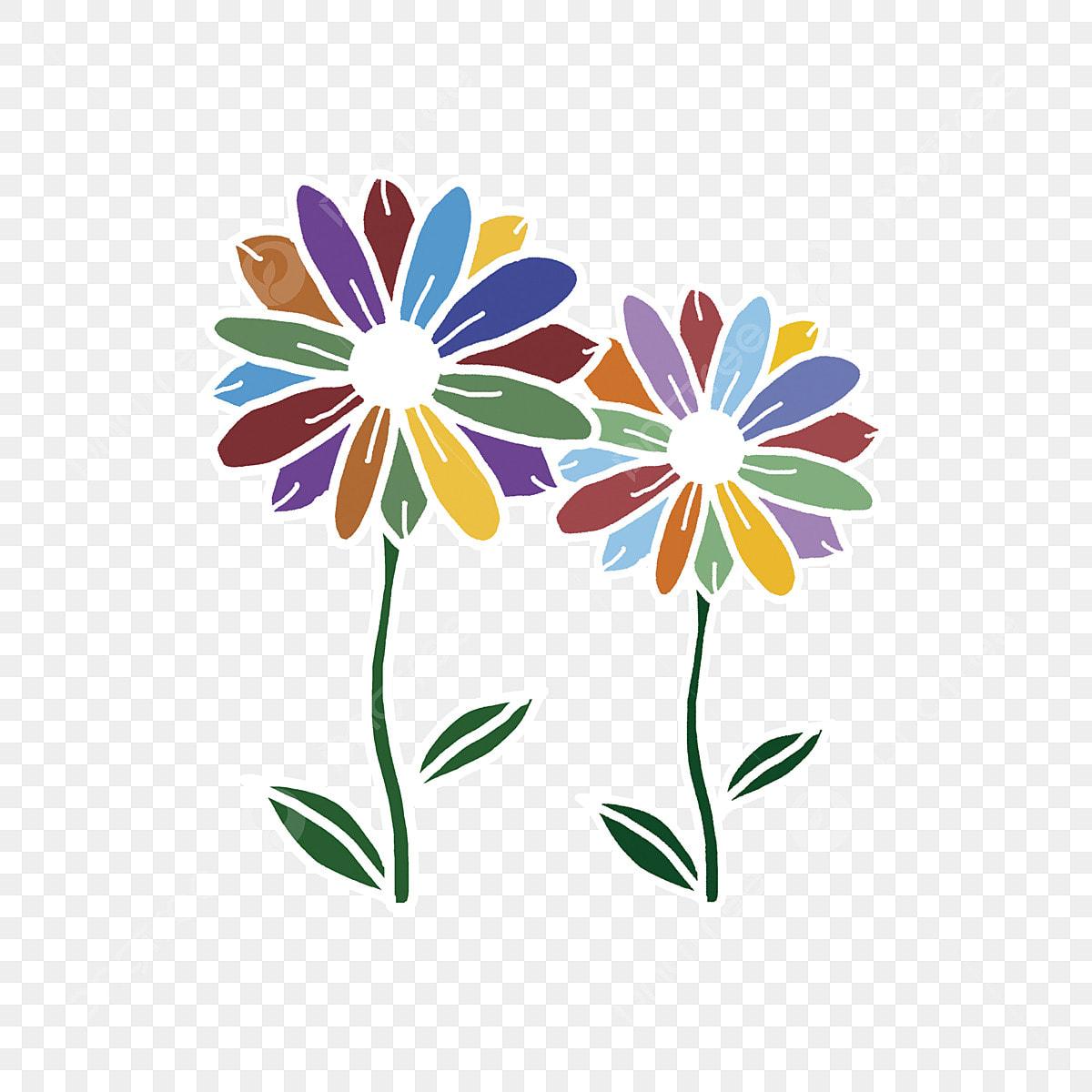 đẹp Cánh Hoa Màu Hoa Bảy Màu Hoa Vẽ đầy Màu Sắc đẹp Miễn