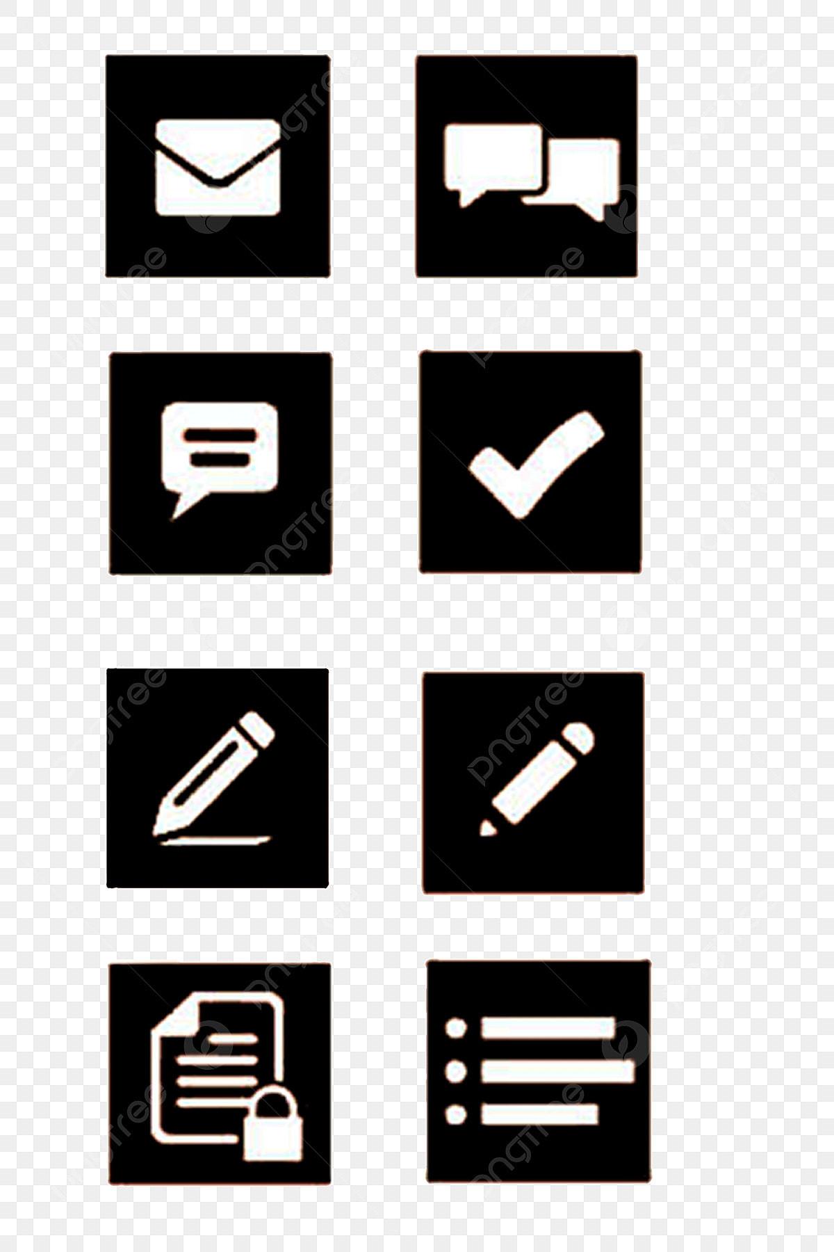Bureau Noir Et Blanc noir et blanc bureau icône mail, format png, dicône, message