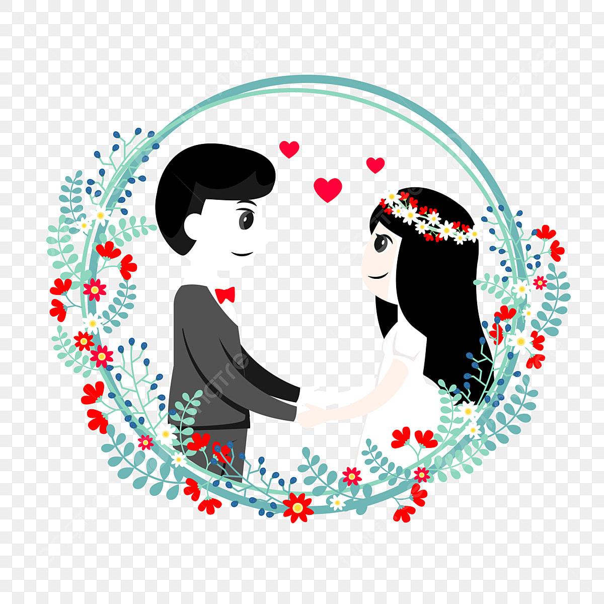 pengantin perempuan pengantin lelaki pengantin kartun
