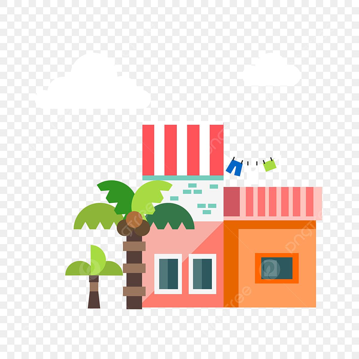 Maison De Construction Magasin Entrepot Cocotier Le Style De Hainan Batiment Tropicale Cocotier Png Et Vecteur Pour Telechargement Gratuit