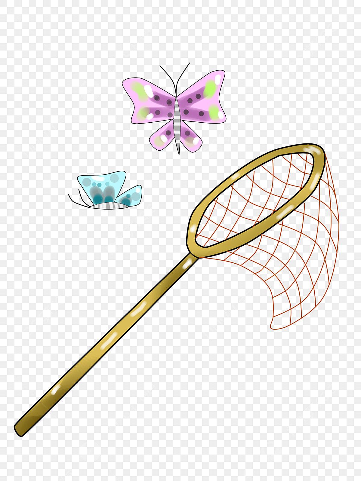 Dibujos Animados Atrapando Mariposas Colorear Ilustración Brillante