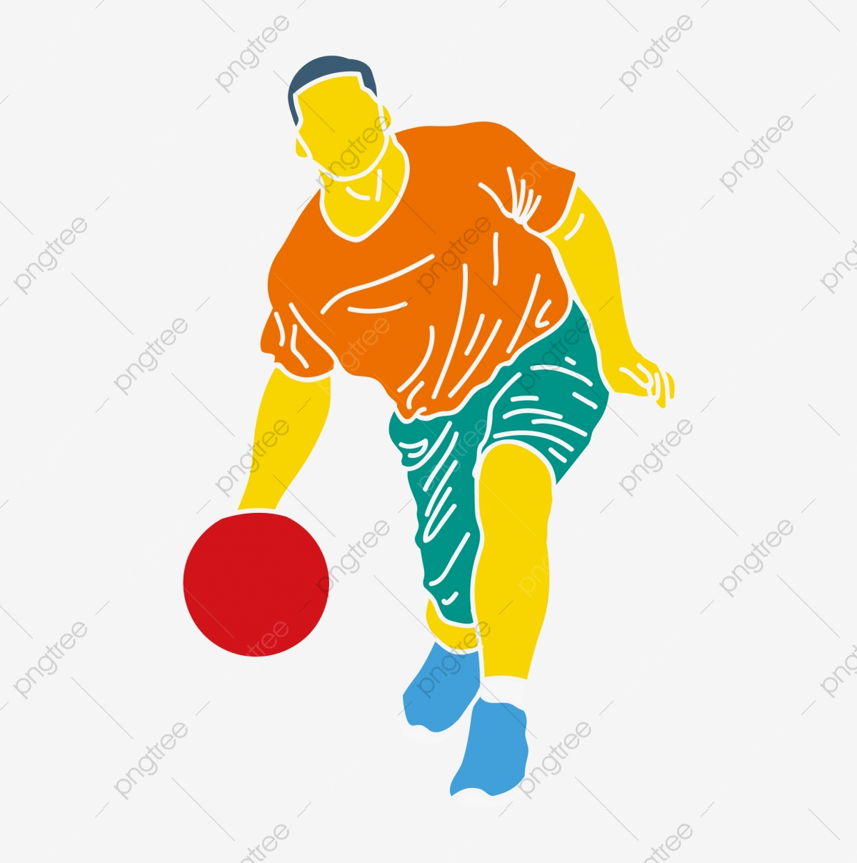Basketball player passes. vector sillhouette.