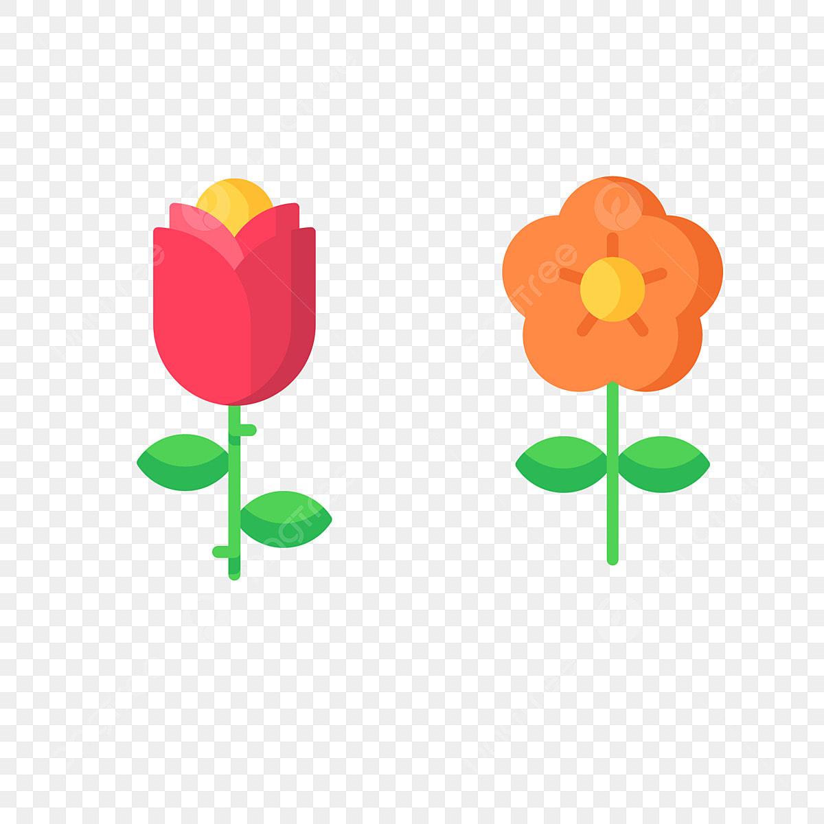 Dessin Anime Fleur Fleur Petite Fleur Rouge Libre Format Png