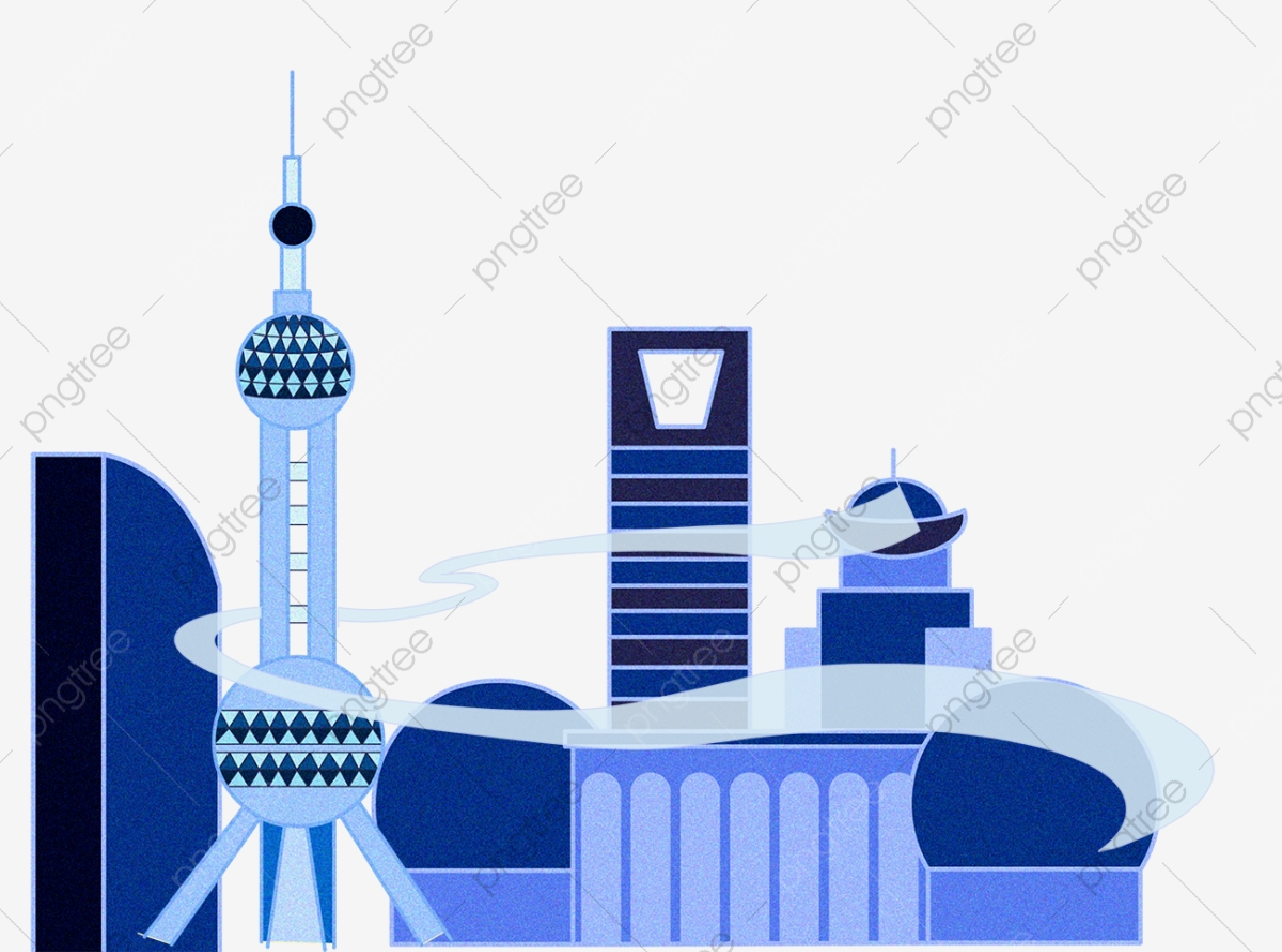 Dessin Animé à La Main Perle Orientale De La Ville De Shanghai Chine ...