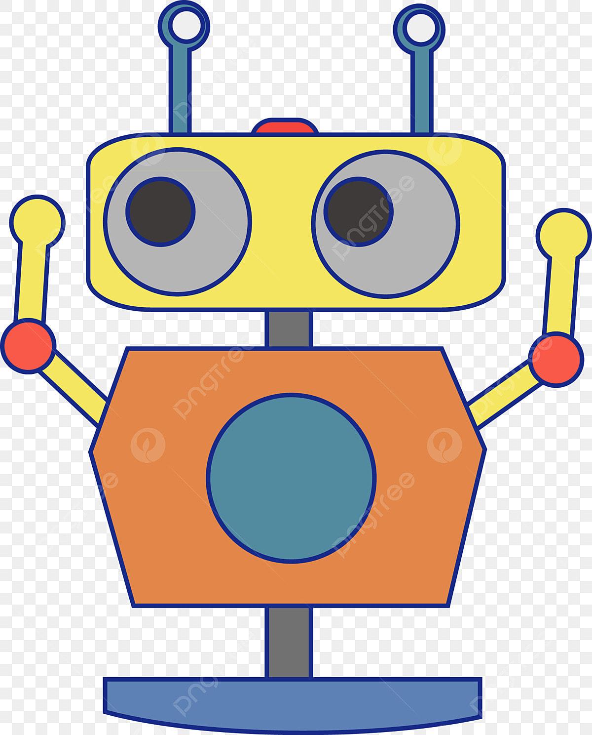 Robo Dos Desenhos Animados Robo De Brinquedo Robo Toy Ilustracao