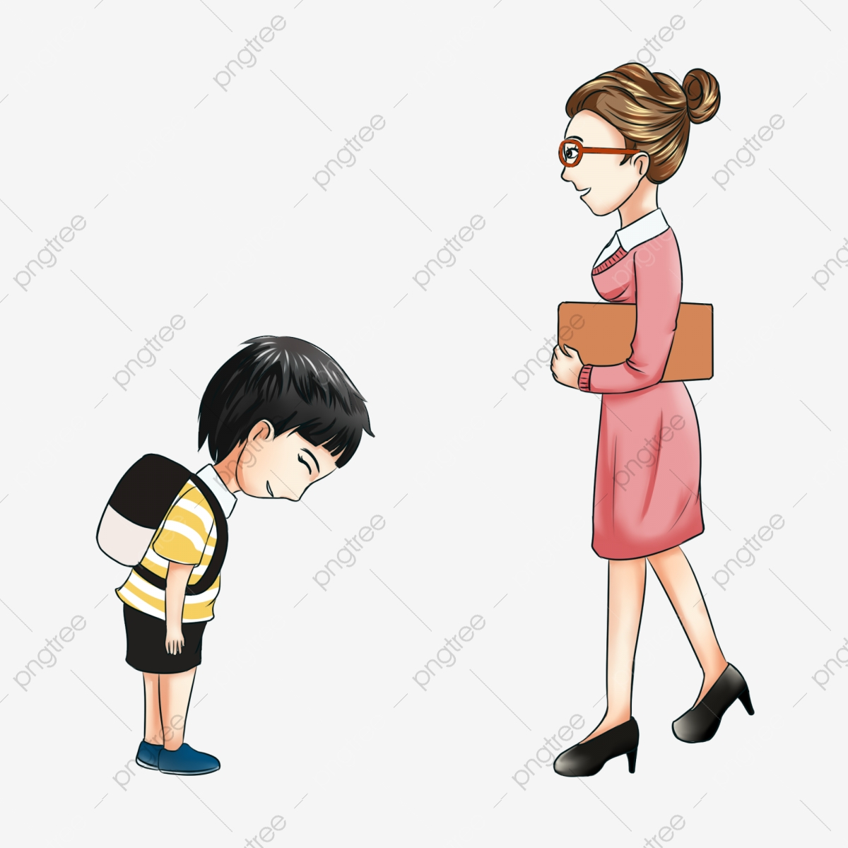 Gambar Kartun Latihan Guru Guru Mengajar Pelajar Sekolah Menengah Kartun Kelas Latihan Guru Png Dan Psd Untuk Muat Turun Percuma