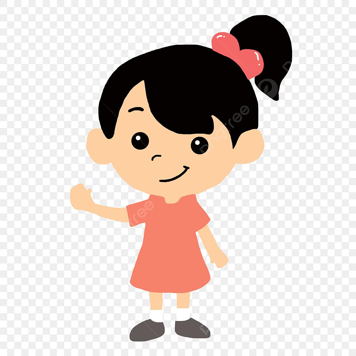 Enfant Illustration Pour Enfants De Dessin Animé Rose Petite