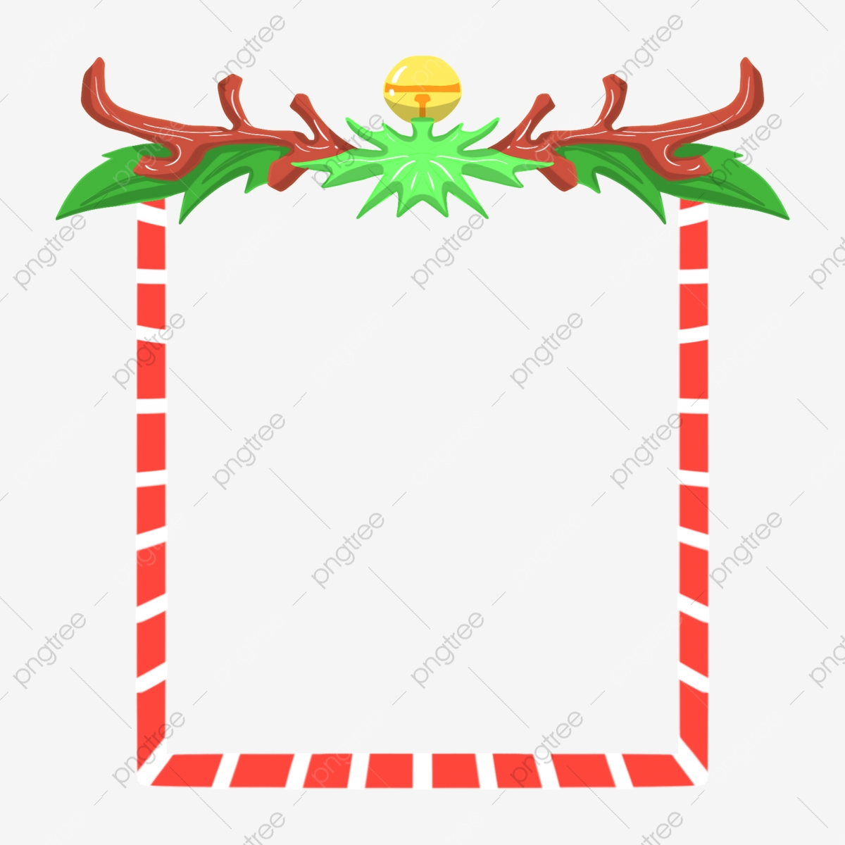 Christmas Border Illustration Christmas Bell Border Yellow