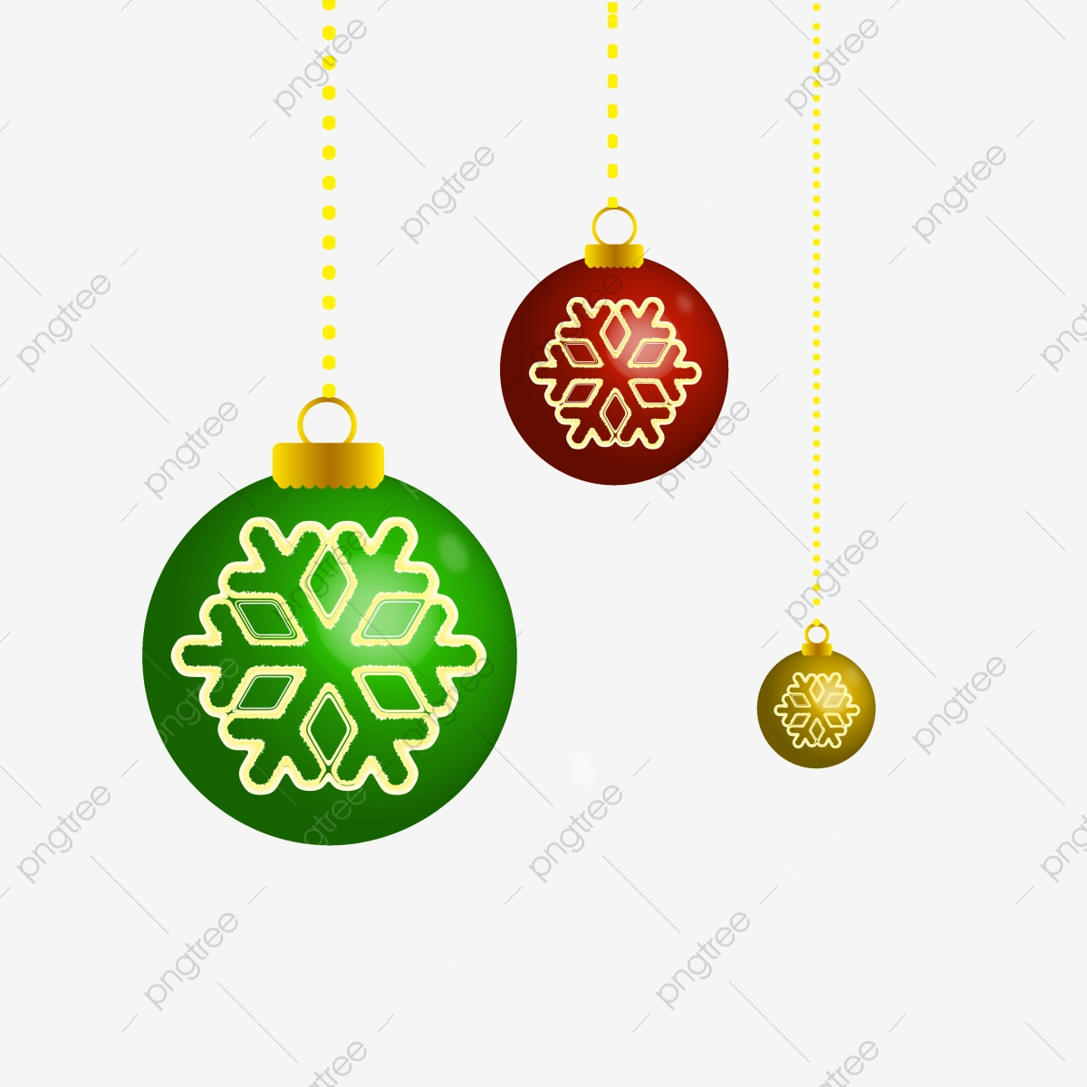 Gold Christmas Ornaments Png.Christmas Golden Ball Cartoon Snowflake Gift Box Golden