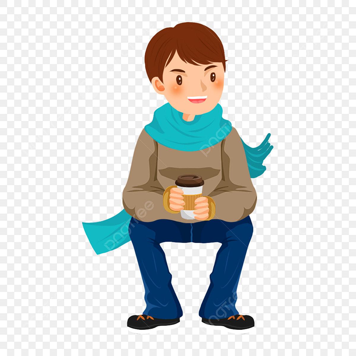 يشرب القهوة رجل يشرب القهوة يجلس ويشرب القهوة القهوة التوضيح الحرف التوضيح الكرتون صبي التوضيح شرب القهوة Png وملف Psd للتحميل مجانا
