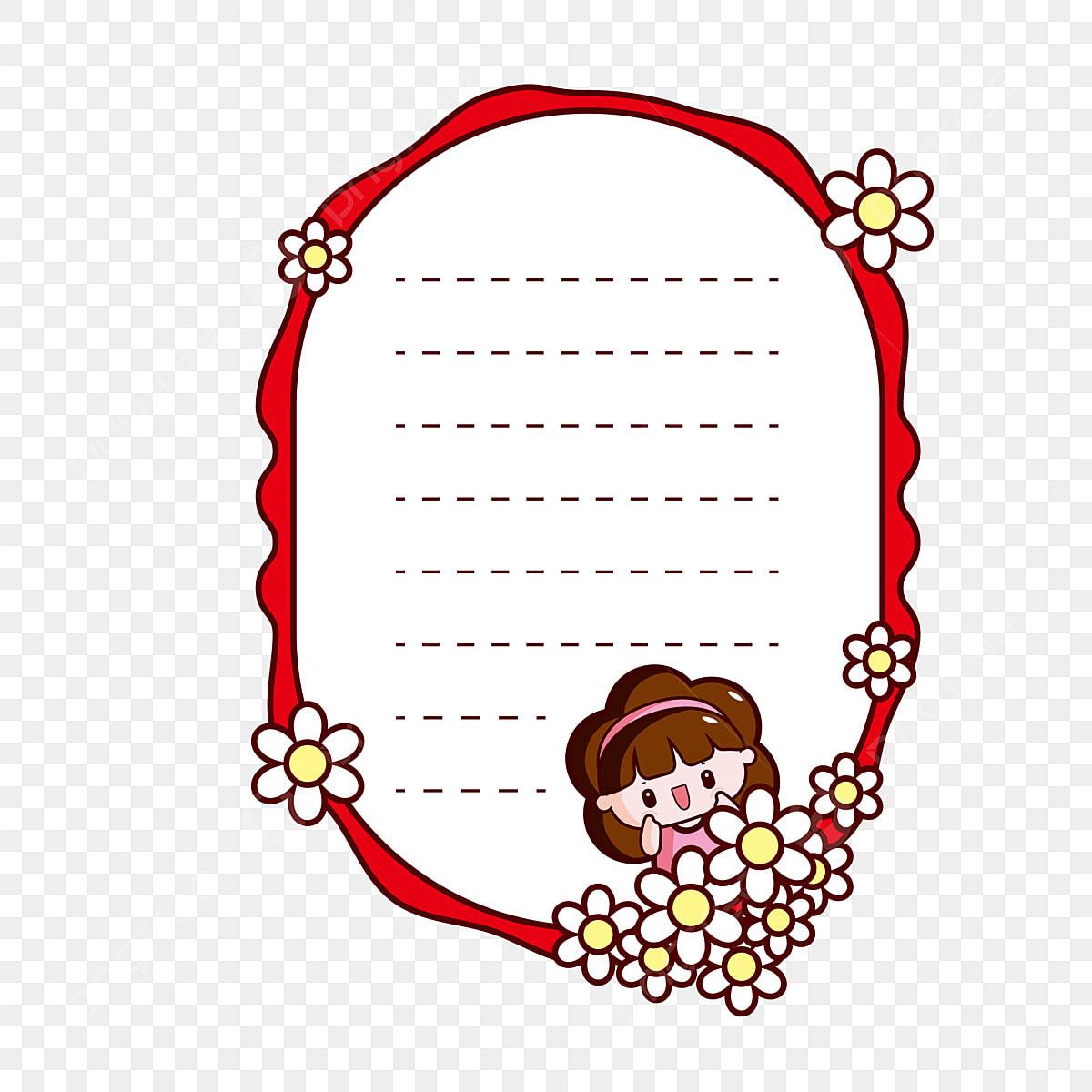 Jolie Petite Fille Illustration De La Boîte De Texte Mignon