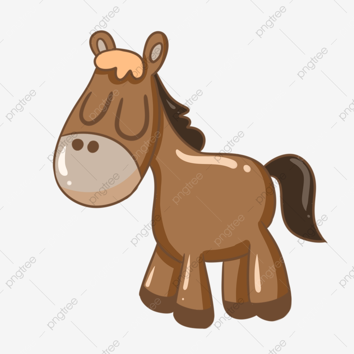 Cute Pony Illustration Brown Pony Cartoon Horse Horse Riding Horse Clipart Pony Animal Png Transparent Clipart Image And Psd File For Free Download