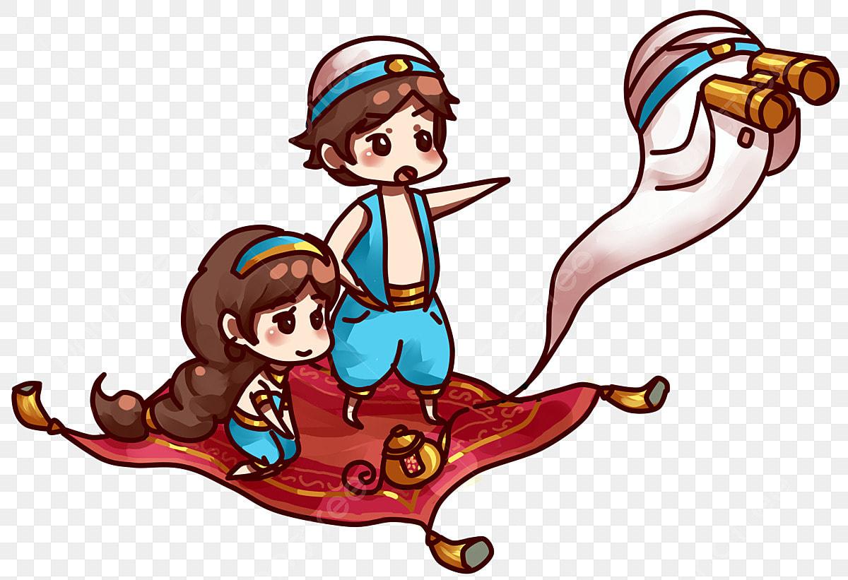 Monde De Conte De Fées Aladdin Princess Et La Lampe Magique