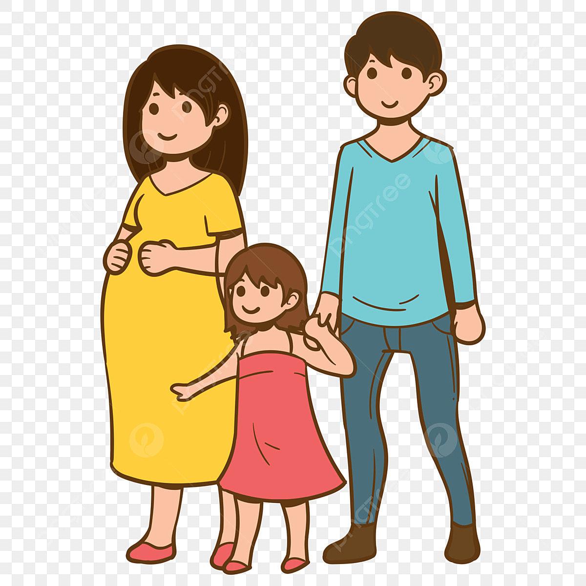 Ahli Keluarga Keluarga Tiga Ibu Dan Ayah Anak Perempuan