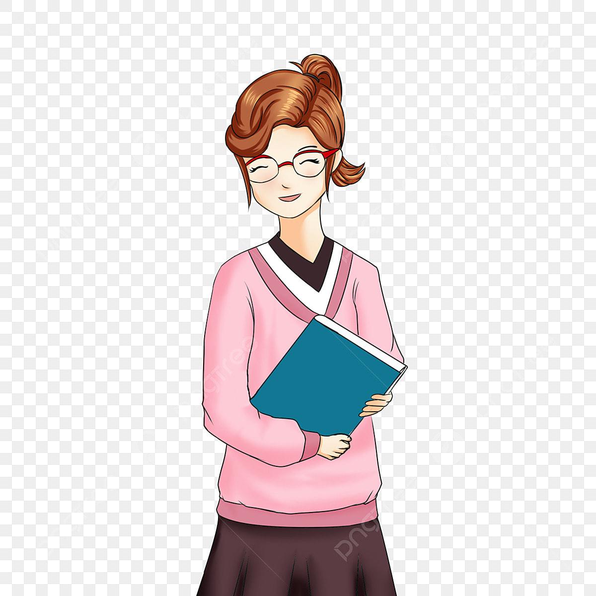 Guru Perempuan Guru Kelas Kartun Pendidikan Kartun Guru